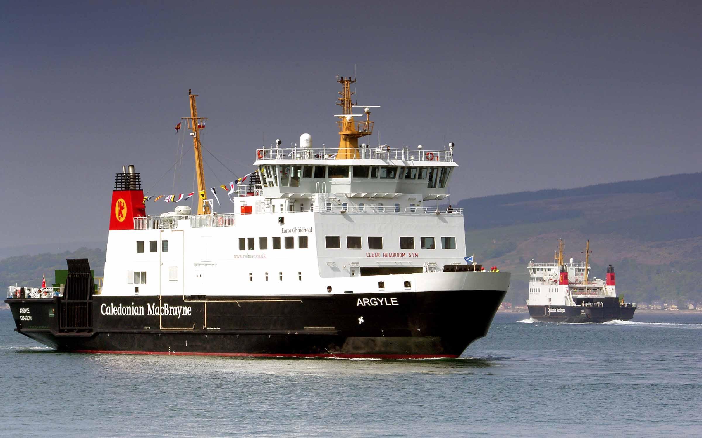 Argyle and Bute off Wemyss Bay ( Ships of CalMac)