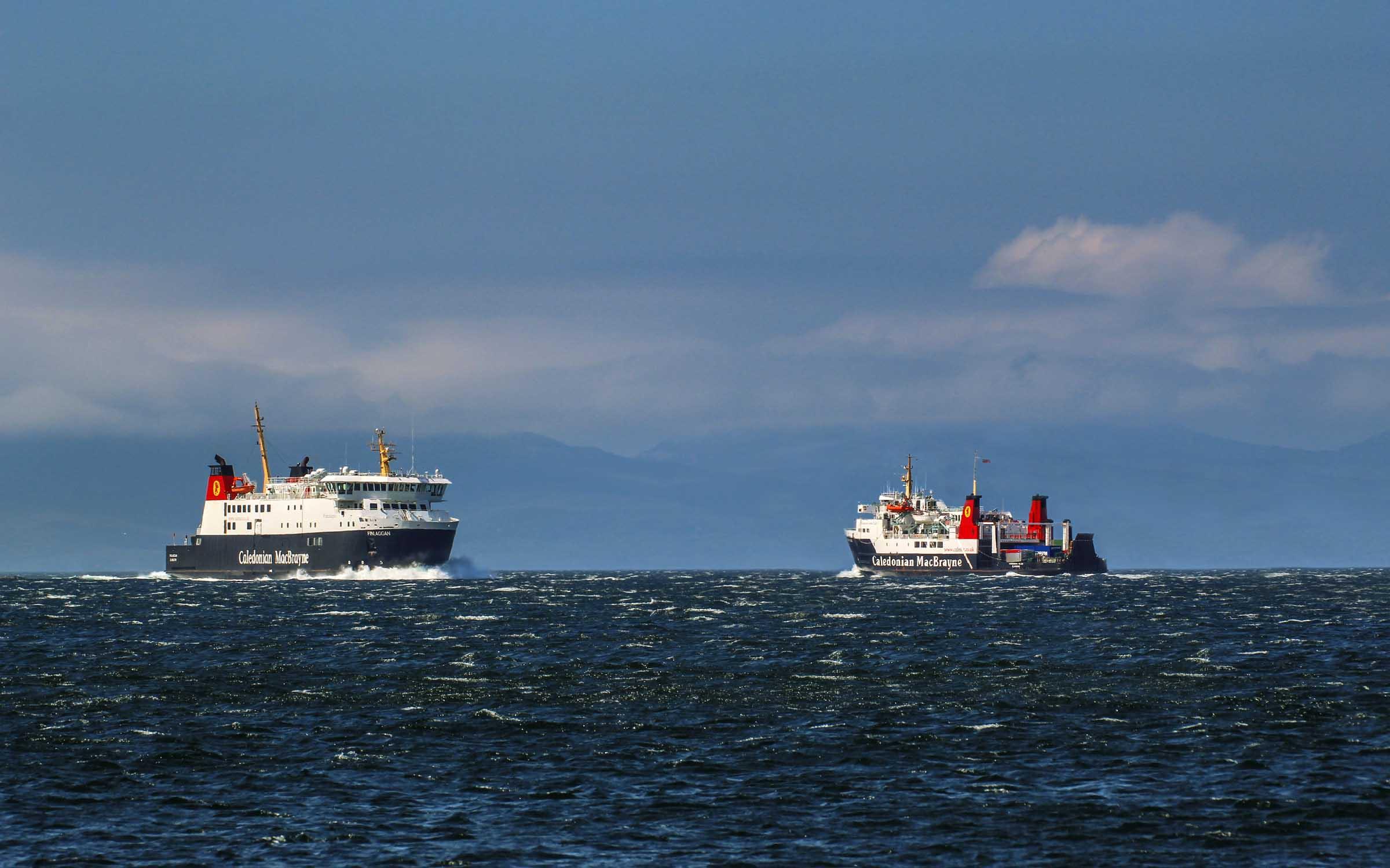 Finlaggan passing Hebridean Isles off Kintyre (Ships of CalMac)