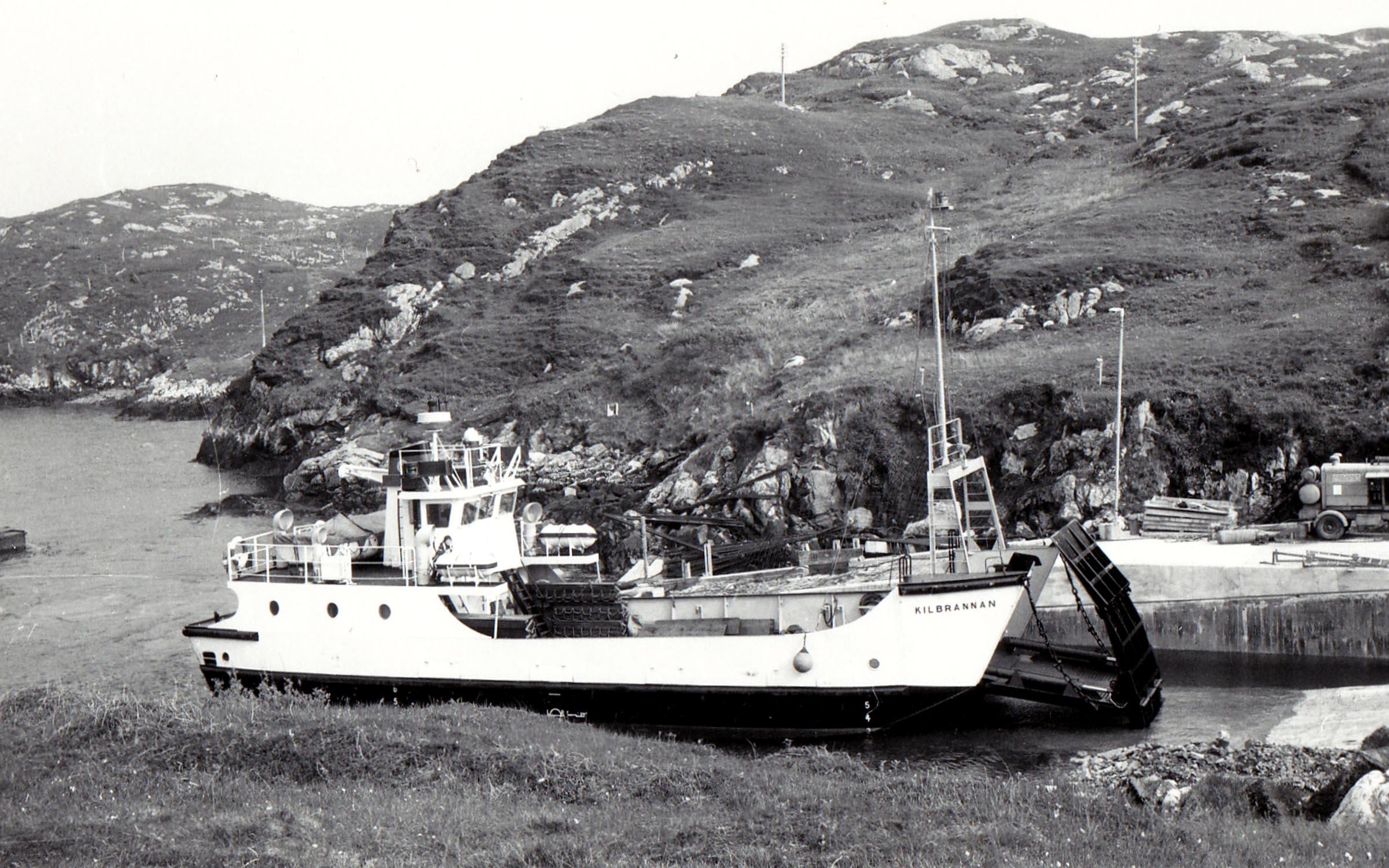 Kilbrannan at Scalpay slipway (Jim Aikman Smith)