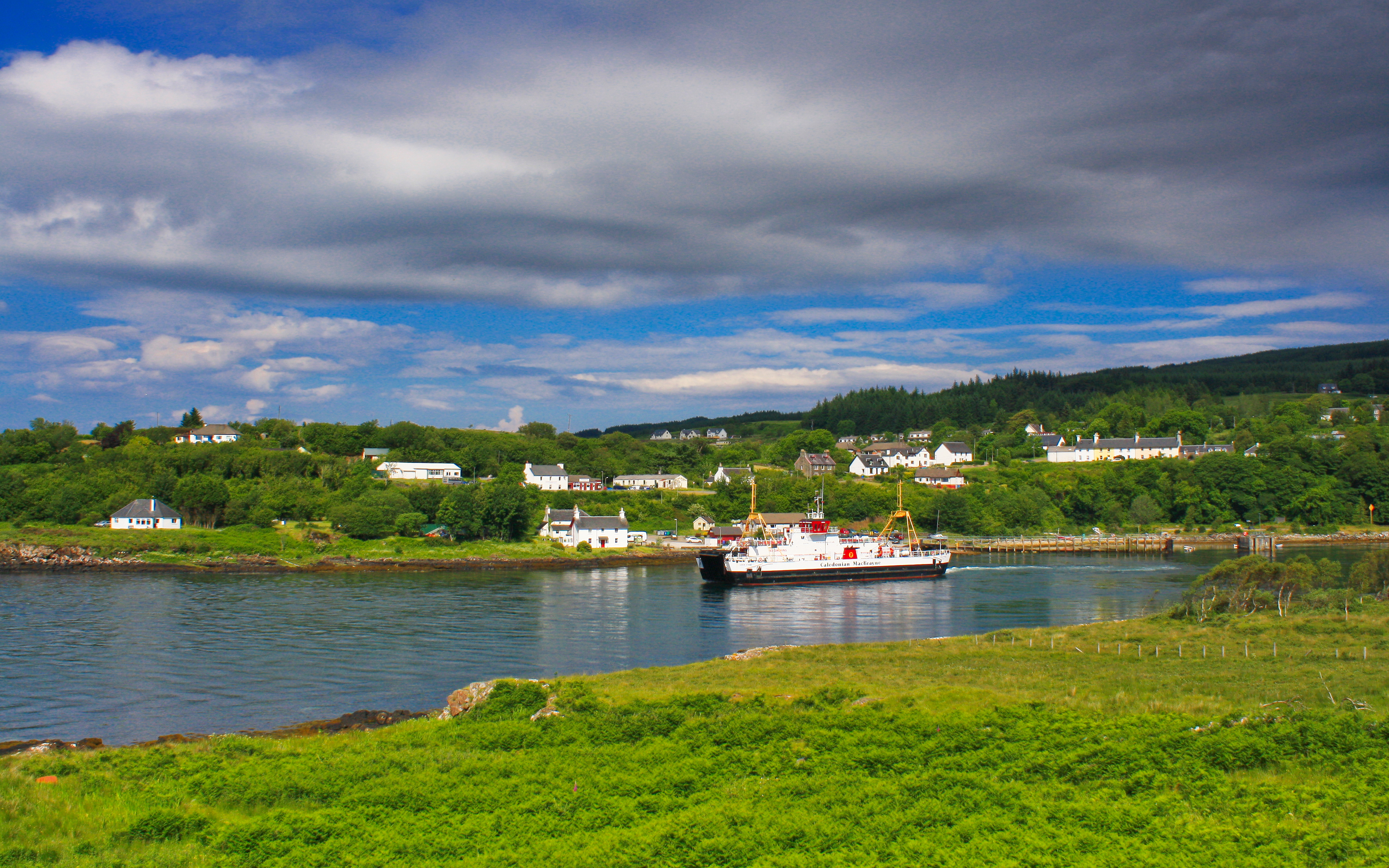 Loch Fyne leaving Lochaline (Ships of CalMac)