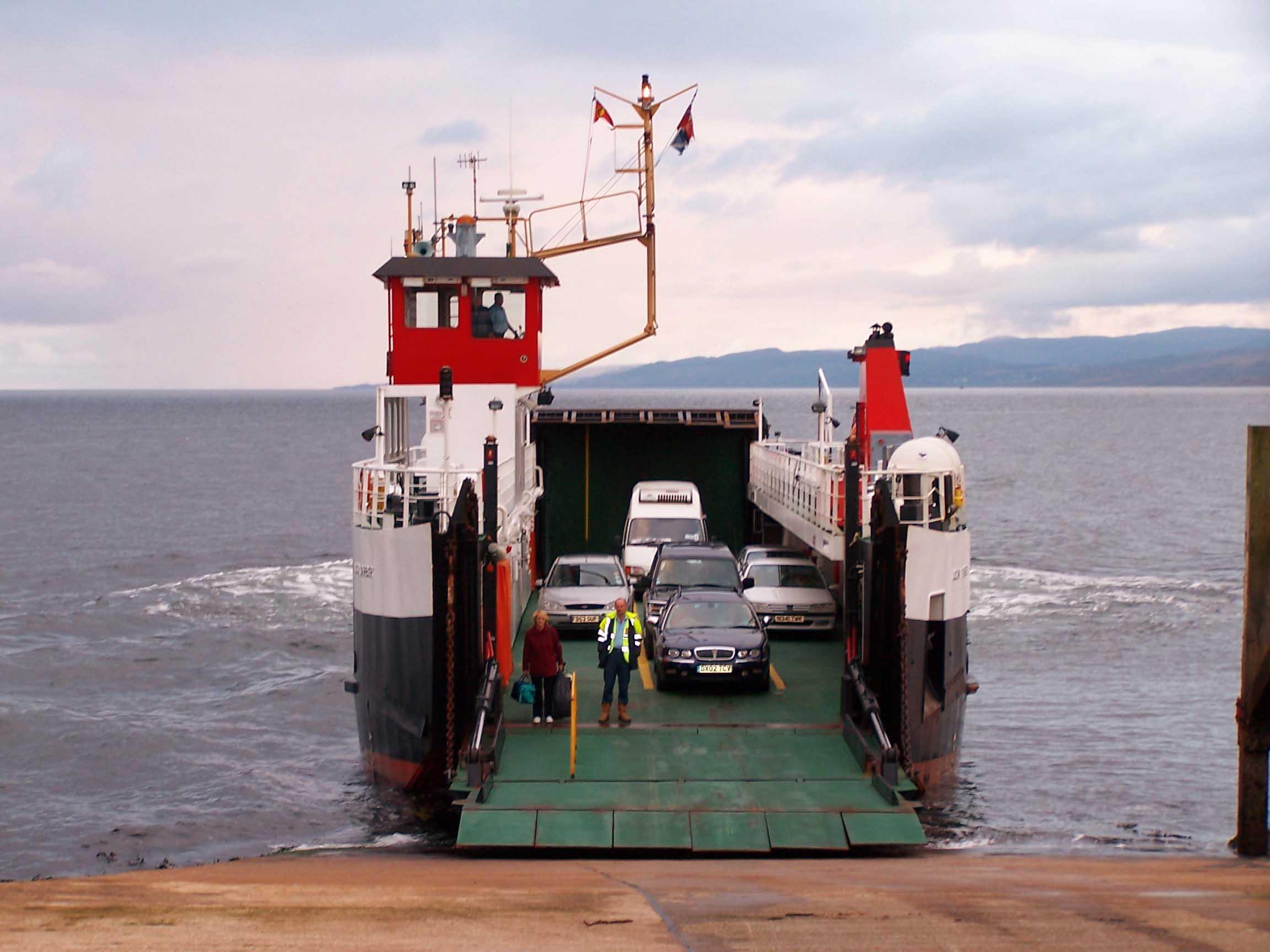 Loch Tarbert arriving at Claonaig (Ships of CalMac)