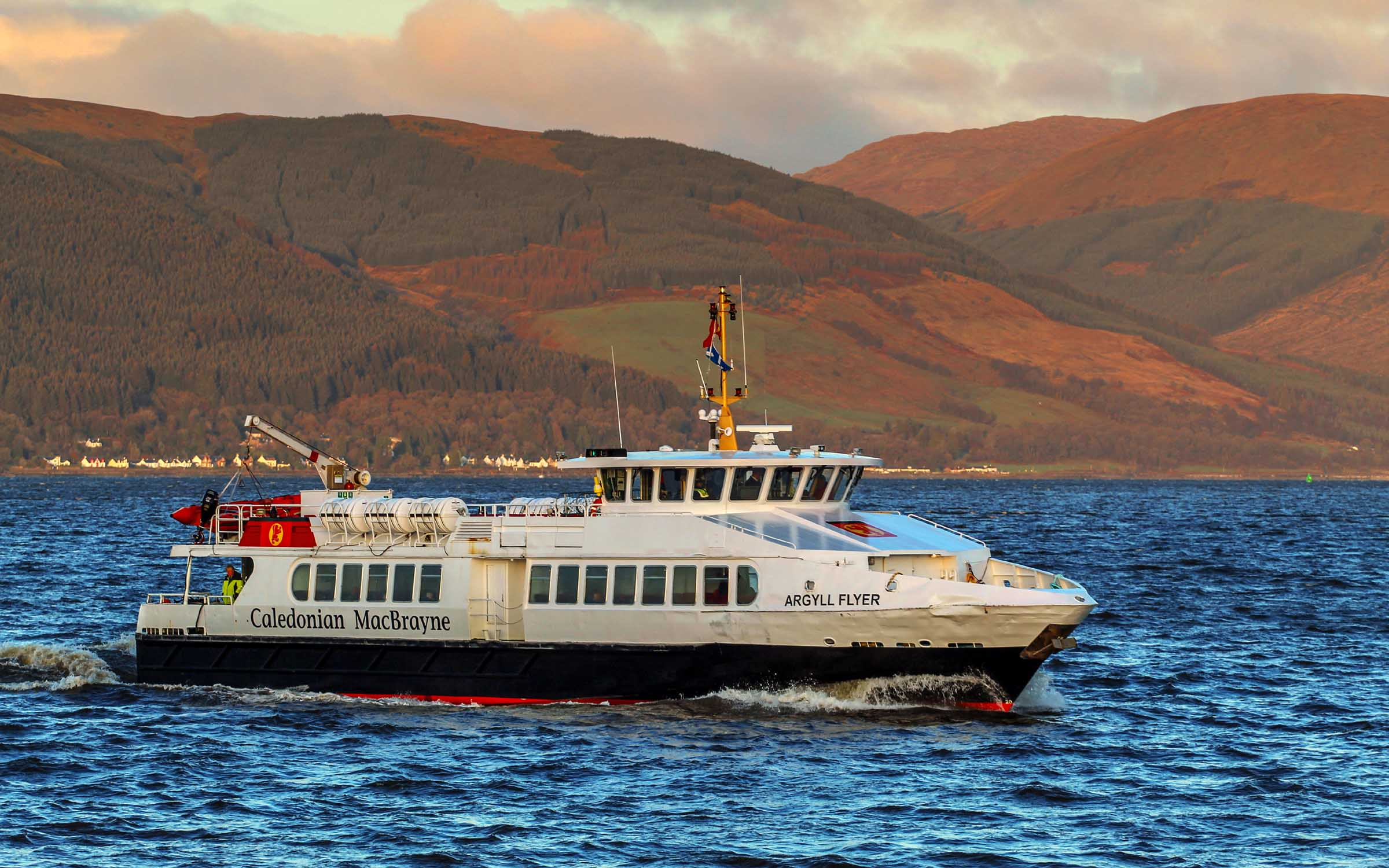 Argyll Flyer in Calmac colours, 2020 (Ships of CalMac)