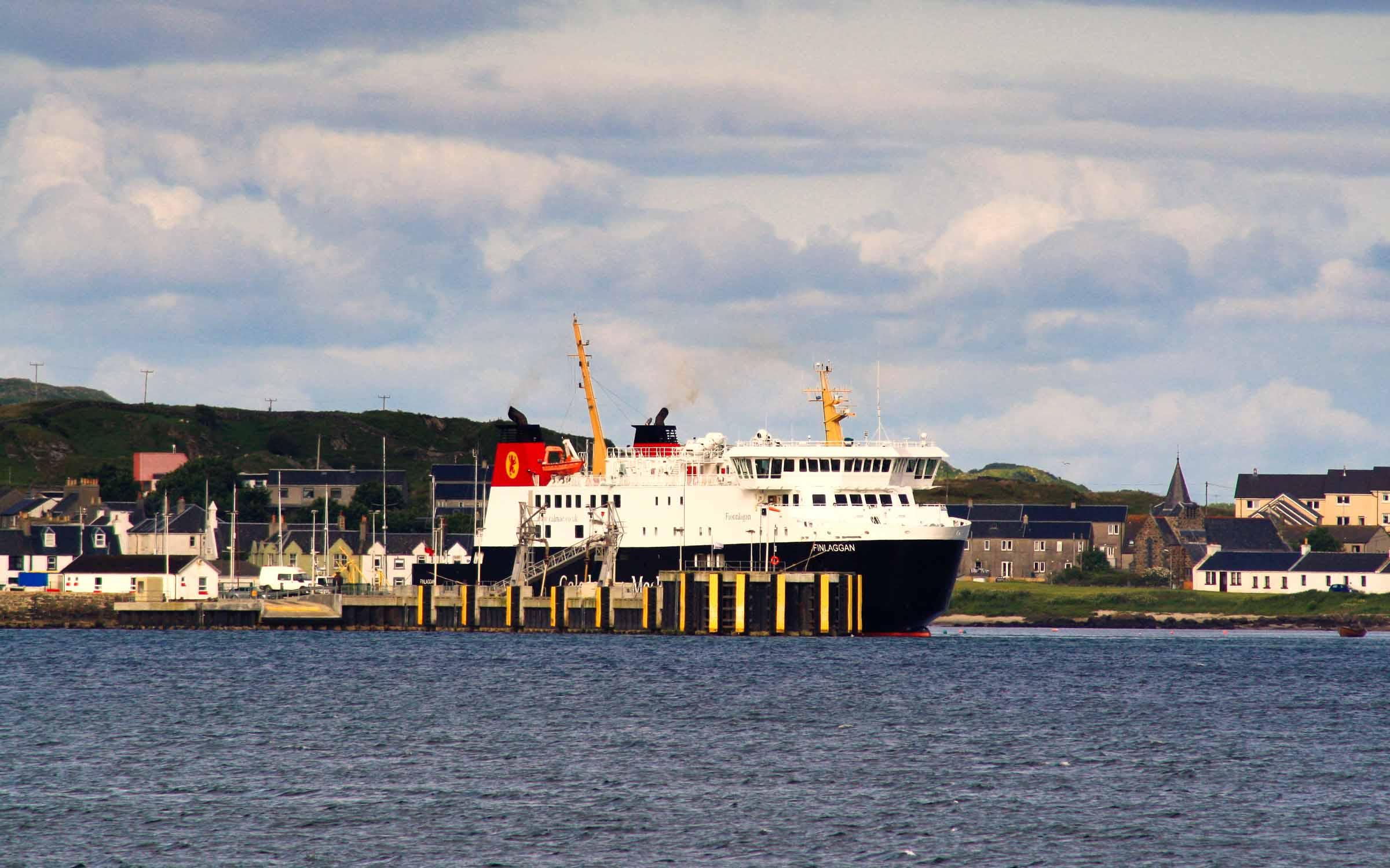 Finlaggan at Port Ellen (Ships of CalMac)