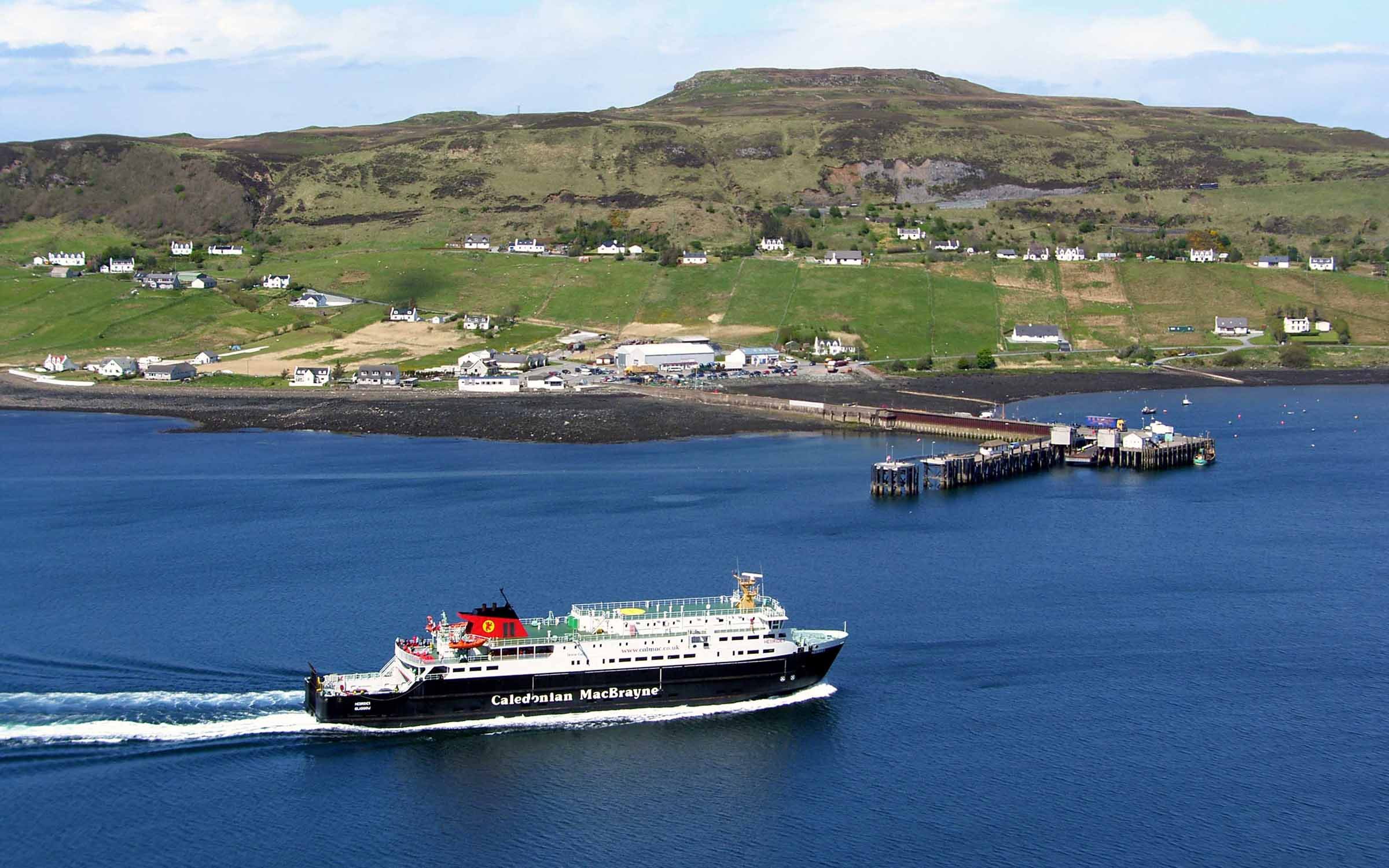 Hebrides arriving at Uig (Ships of CalMac)