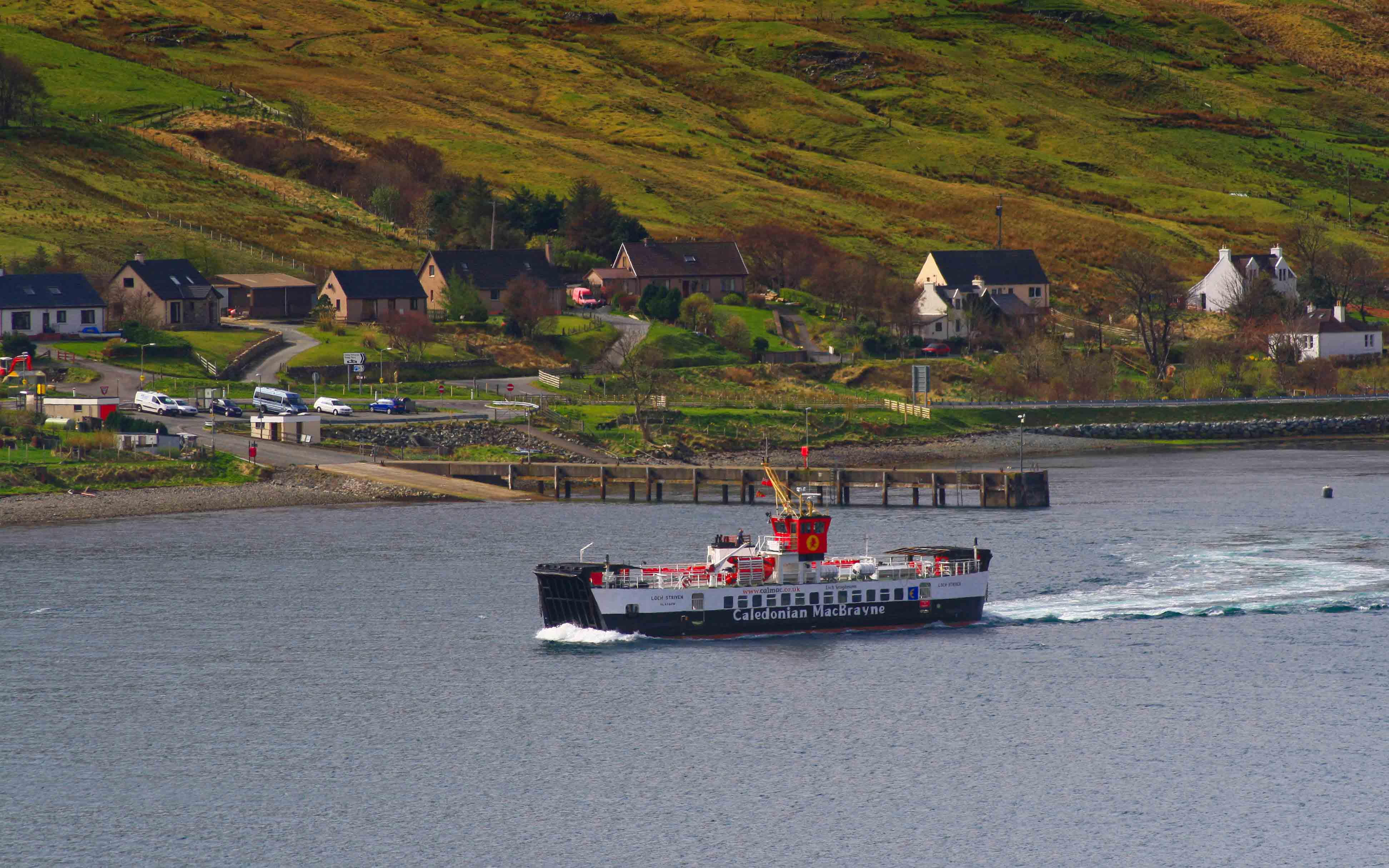 Loch Striven leaving Sconser (Ships of CalMac)