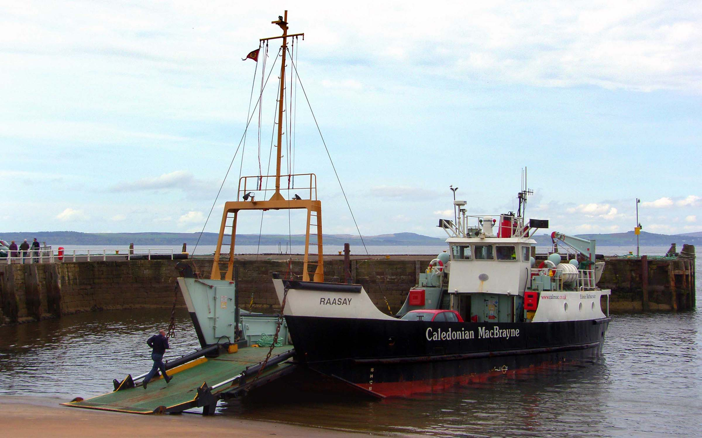 Raasay unloading at Largs (Ships of CalMac)
