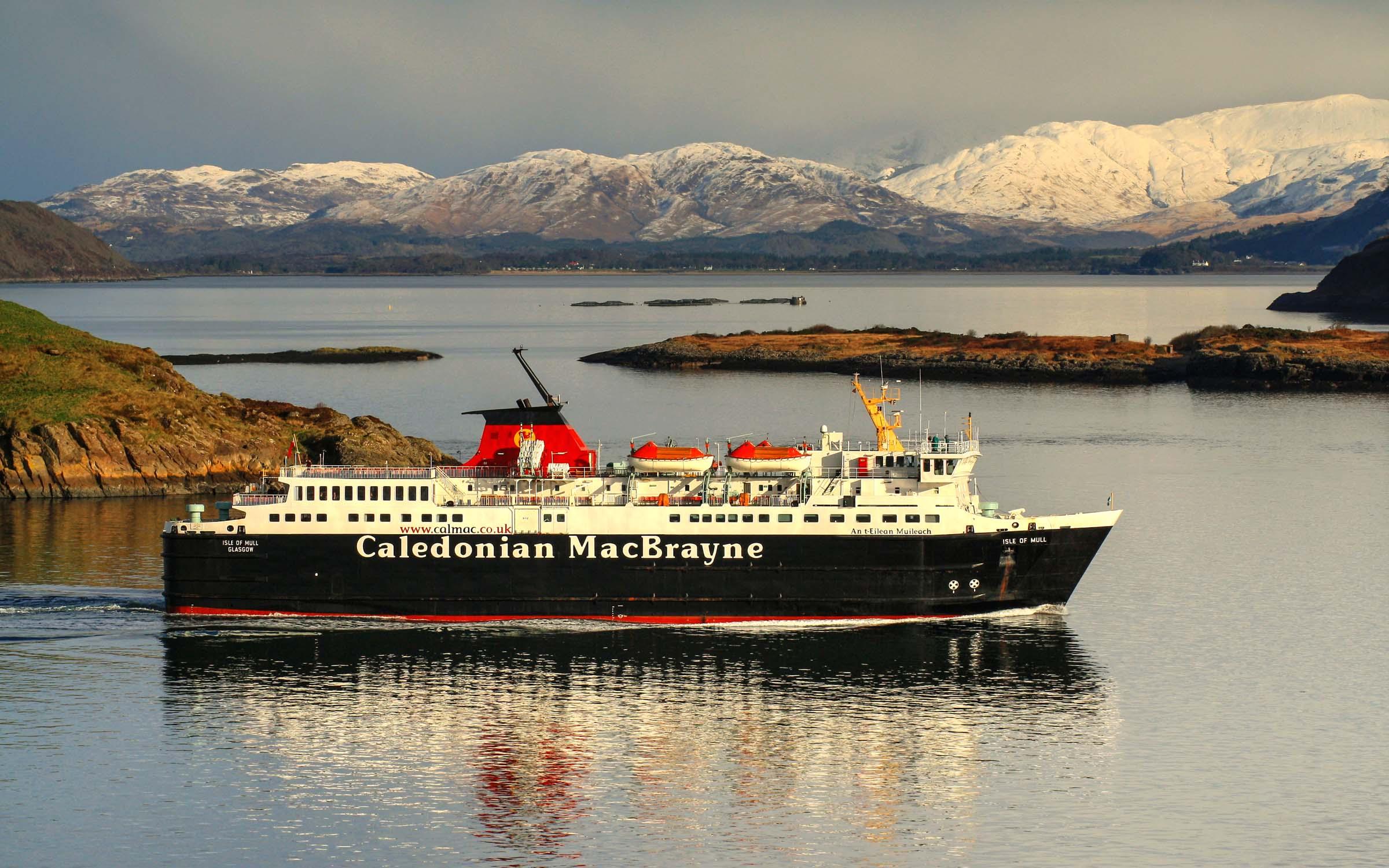 Isle of Mull entering Oban Bay (Ships of CalMac)