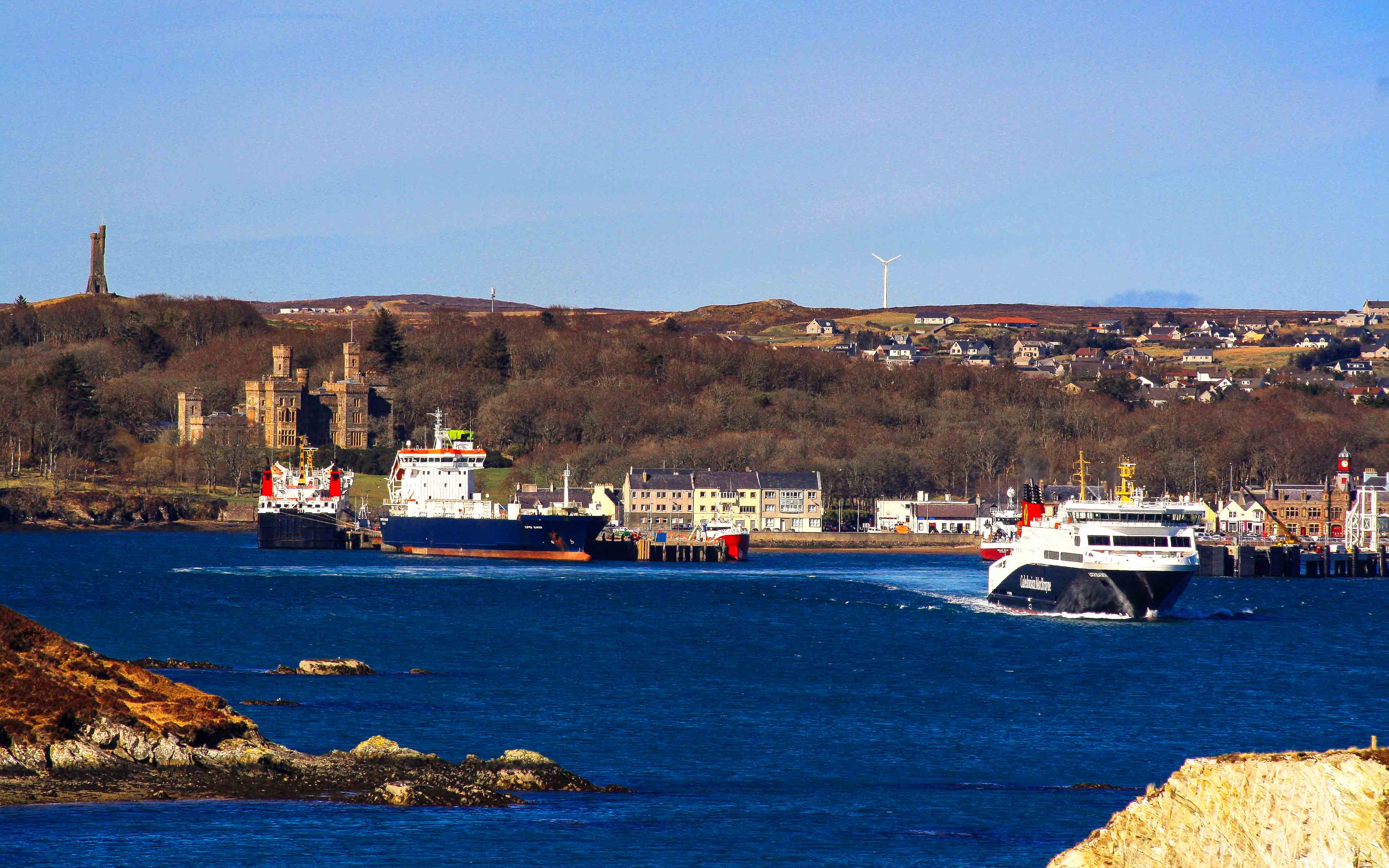 Loch Seaforth, Clipper Ranger and Isle of Lewis at Stornoway (Ships of CalMac)