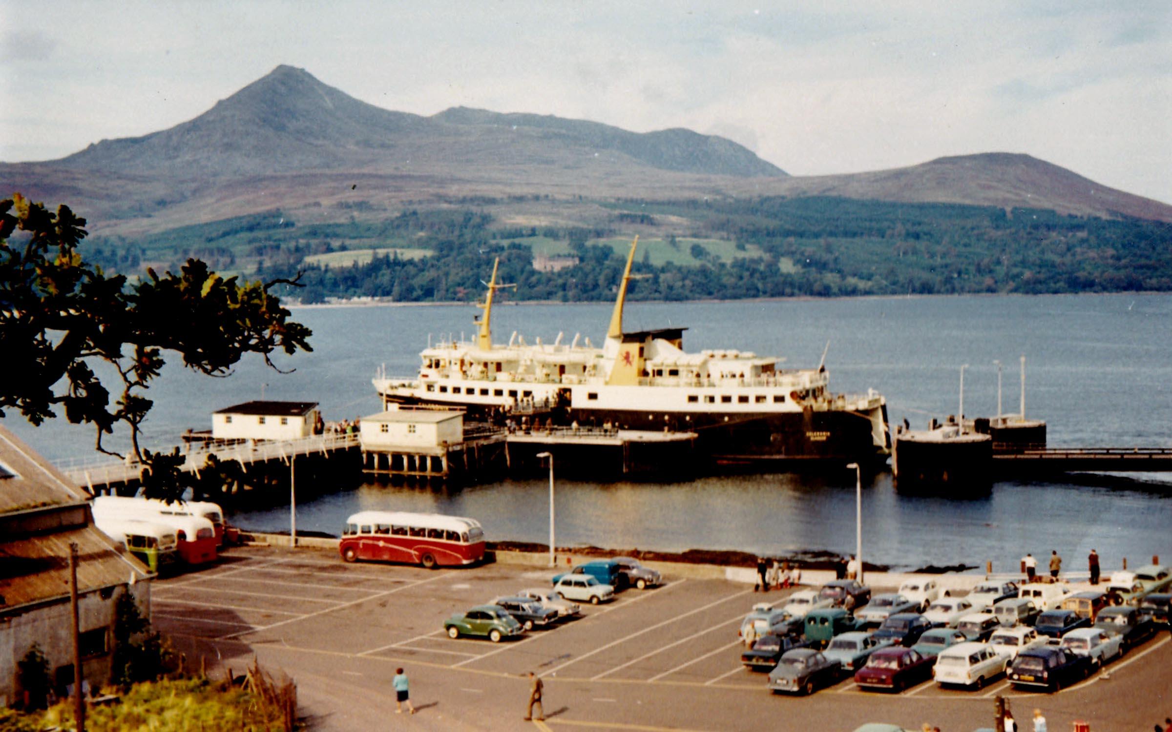 Caledonia unloading at Brodick (Jim Aikman Smith)