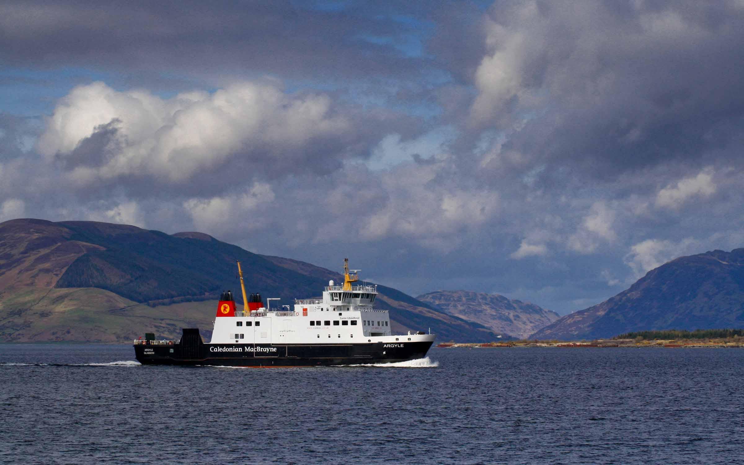 Argyle leaving Rothesay Bay (Ships of CalMac)