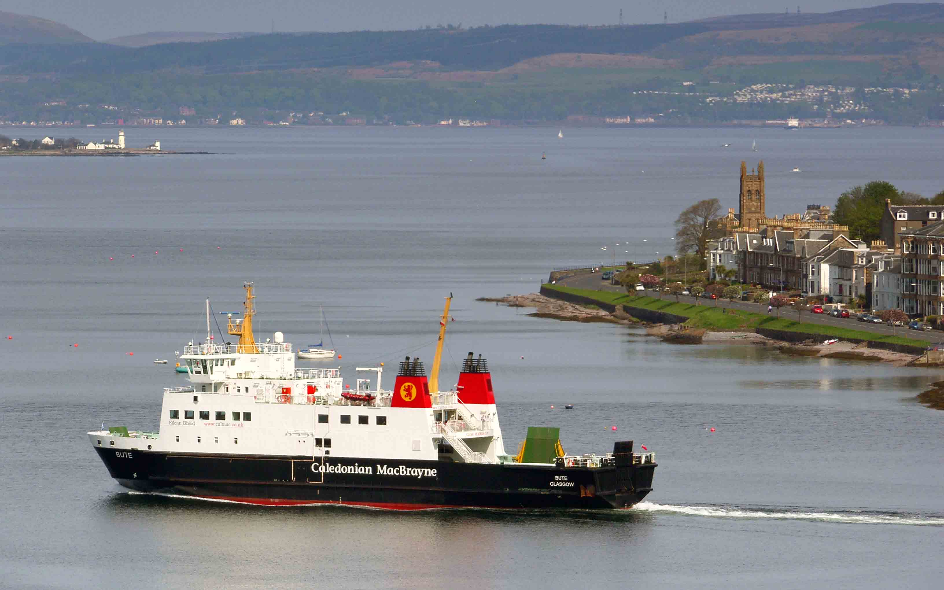 Bute leaving Rothesay (Ships of CalMac)