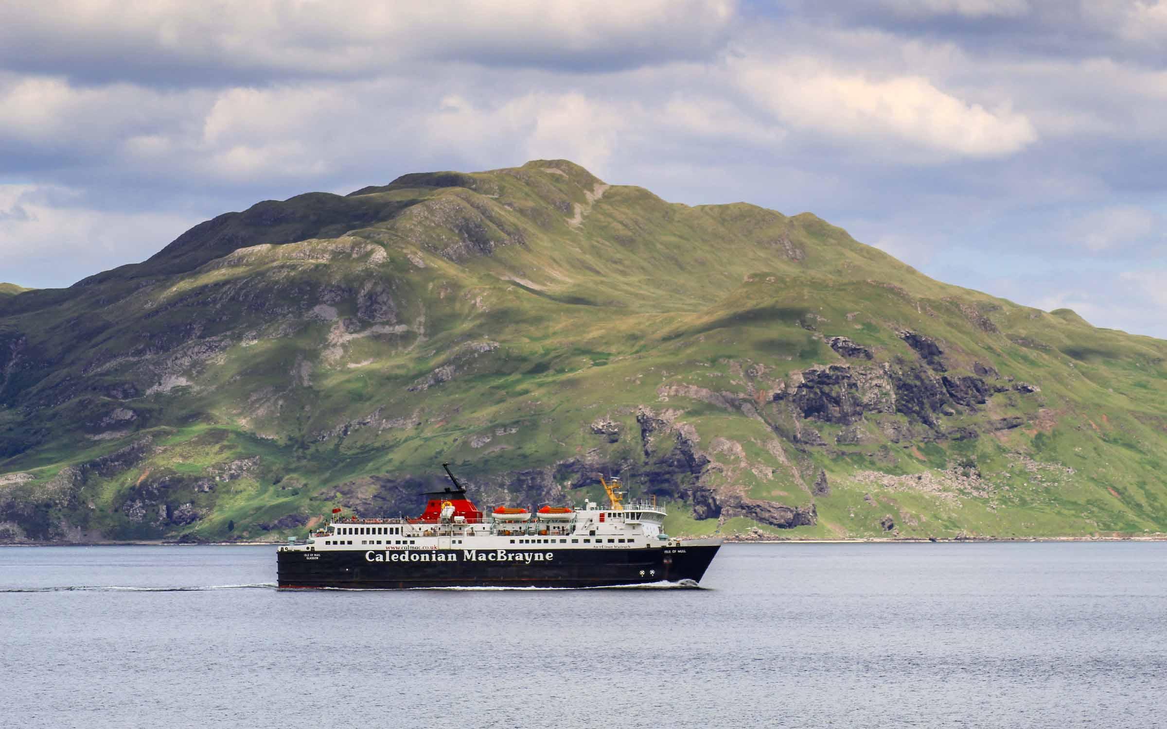 Isle of Mull passing Ben Hiant (Ships of CalMac)