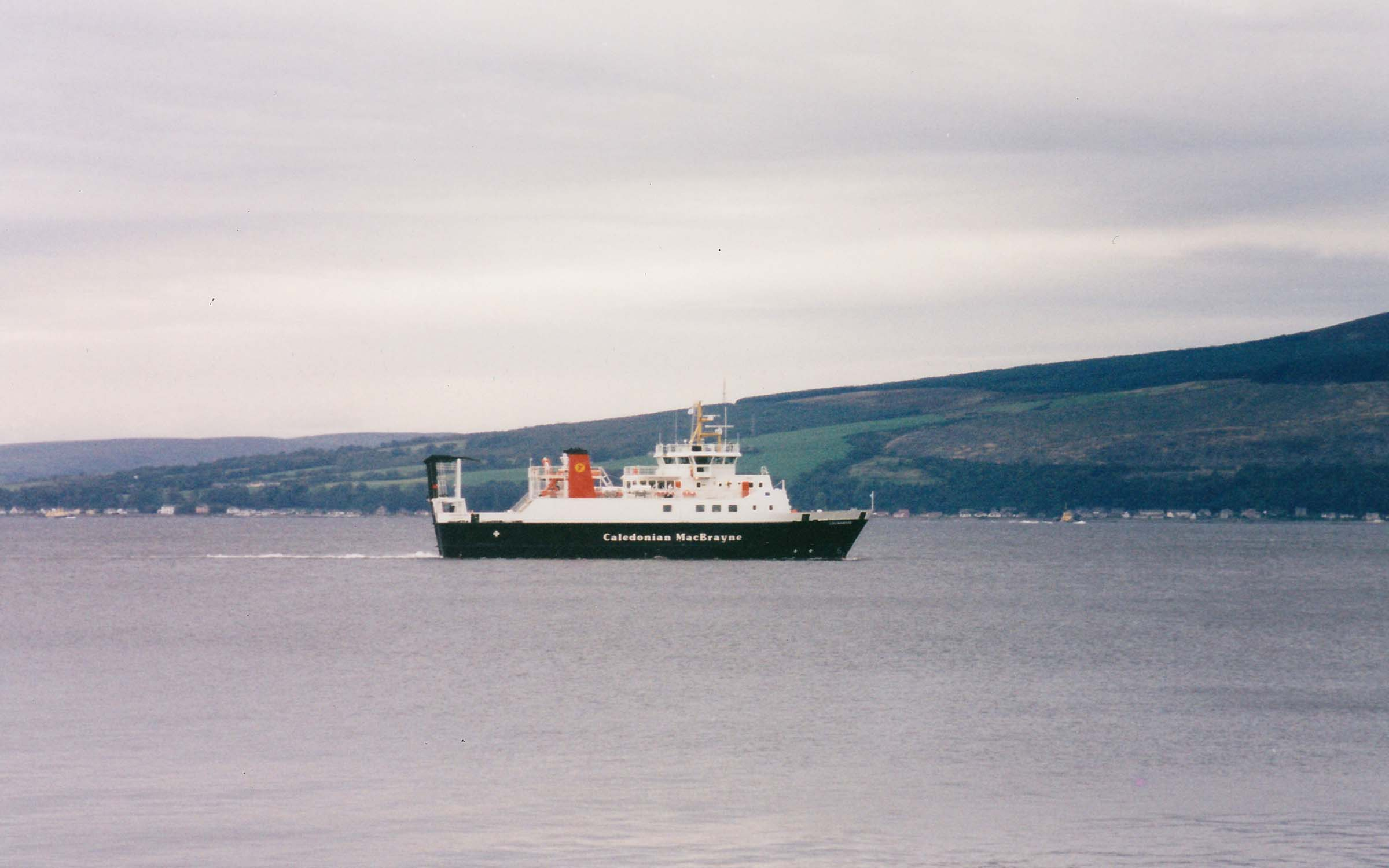 Lochnevis undergoing speed trials off Skelmorlie (Ships of CalMac)