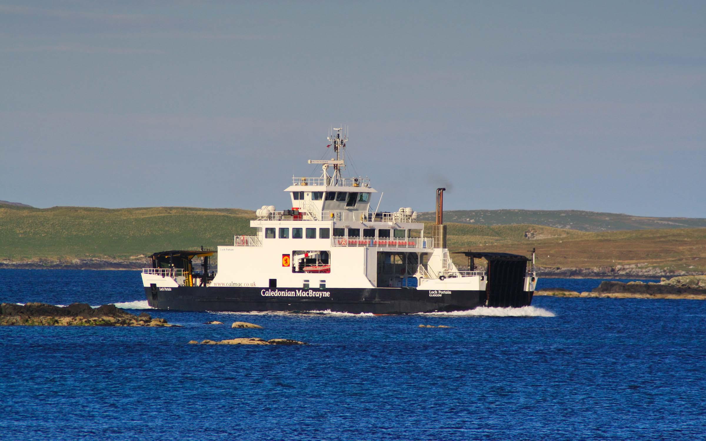 Loch Portain approaching Leverburgh (Ships of CalMac)