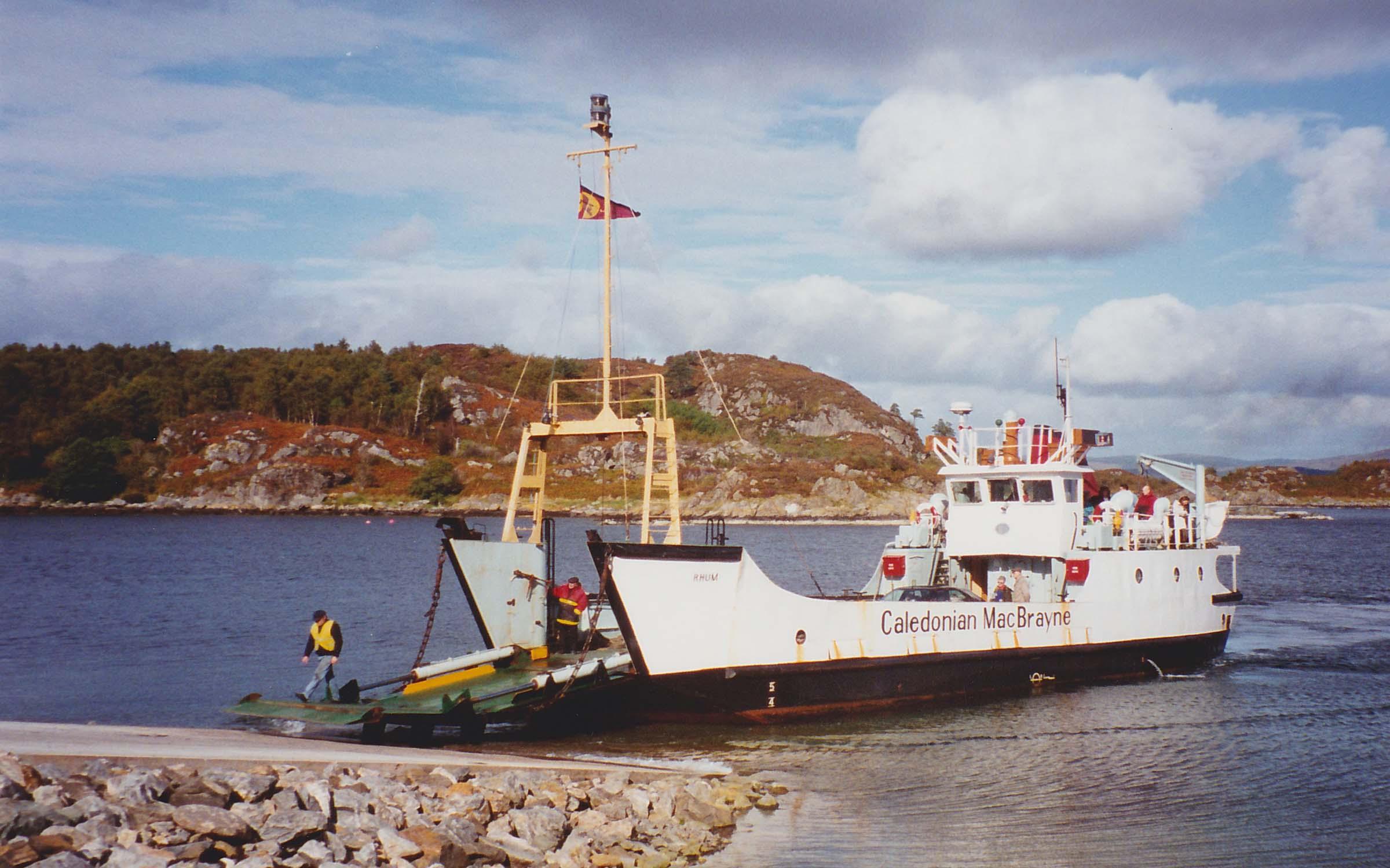Rhum at Tarbert slipway (Ships of CalMac)