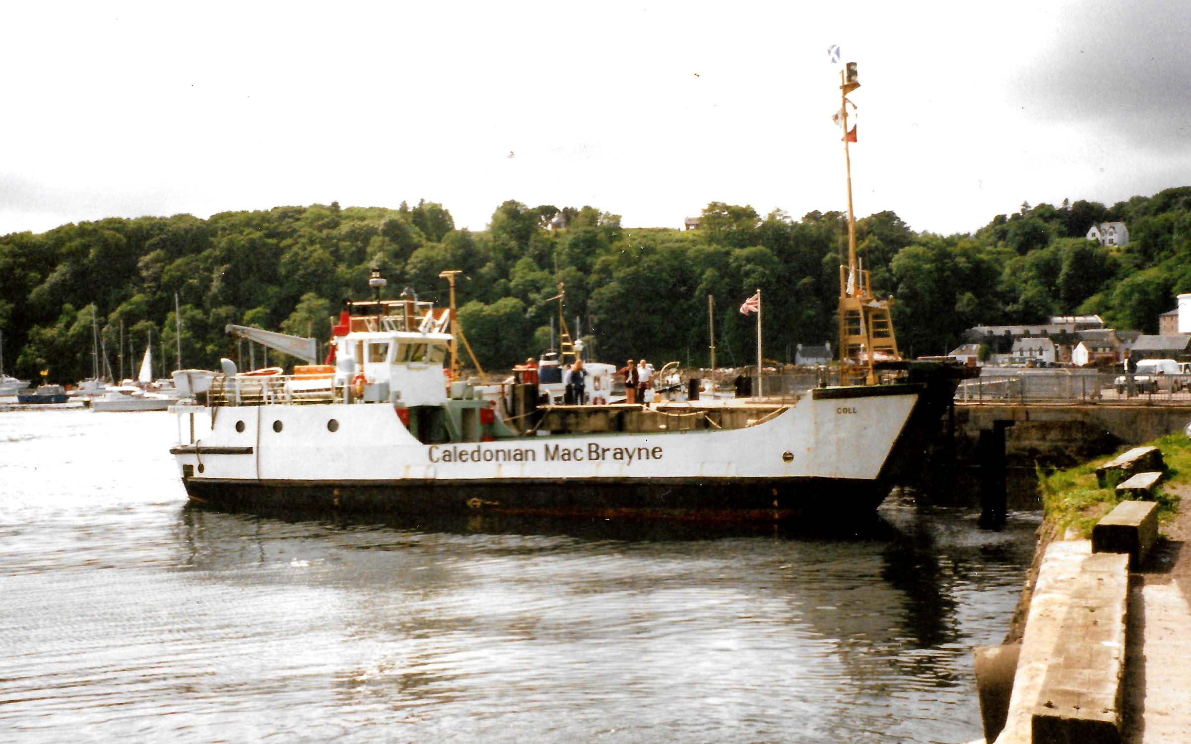 Coll back as a car ferry at Tobermory (Ships of CalMac)