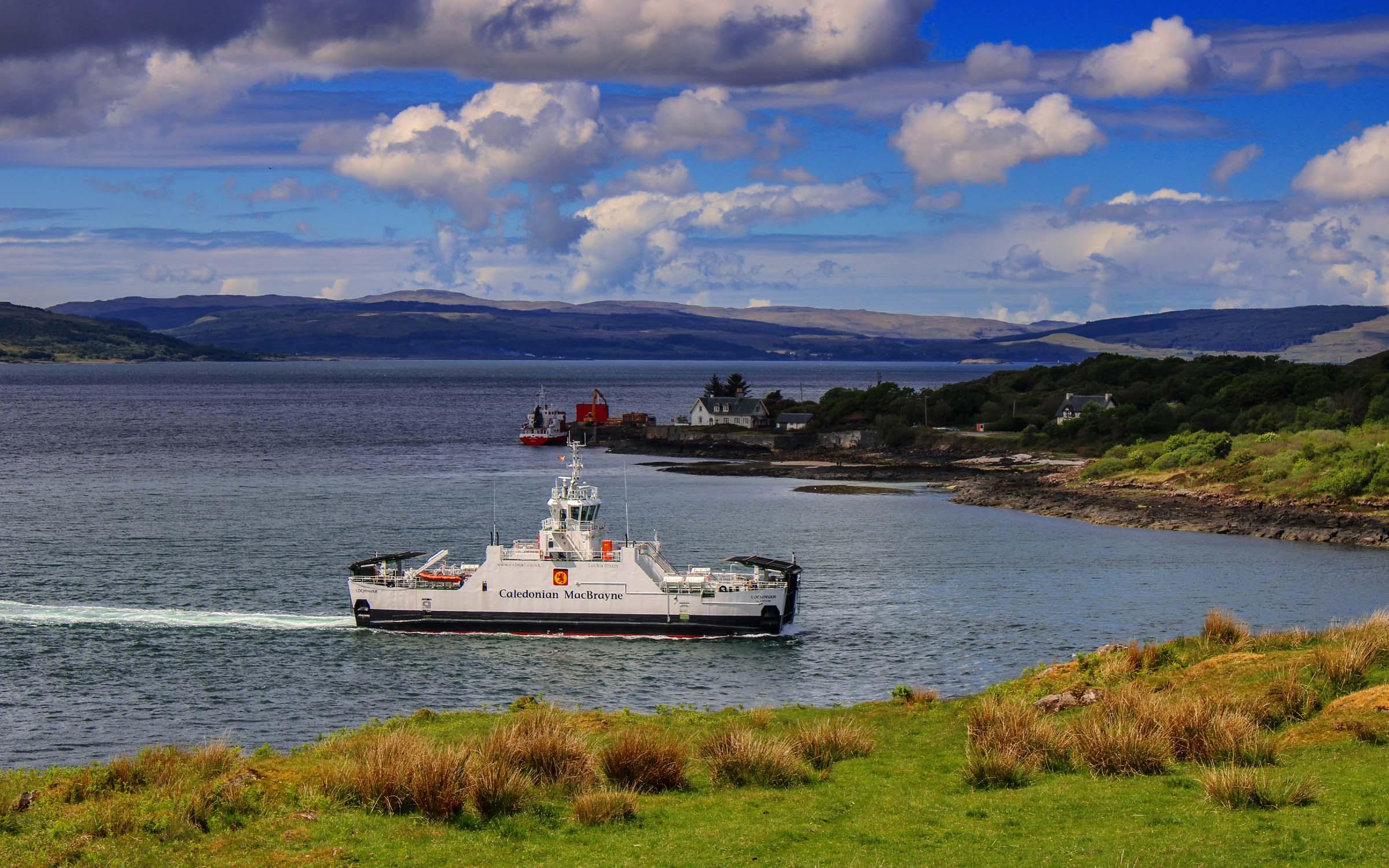Lochinvar crossing to Lochaline (Ships of CalMac)