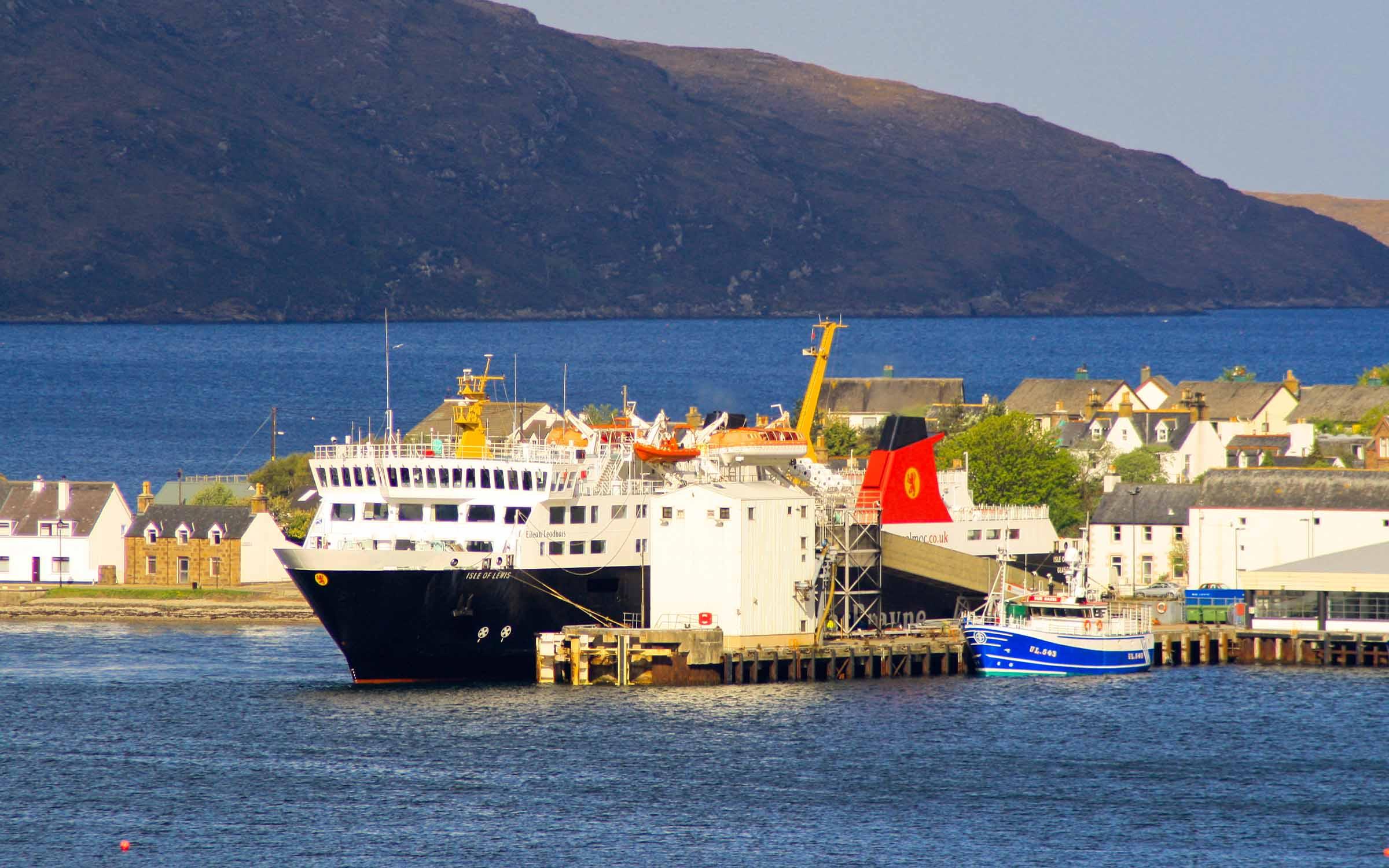 Isle of Lewis at Ullapool (Ships of CalMac)