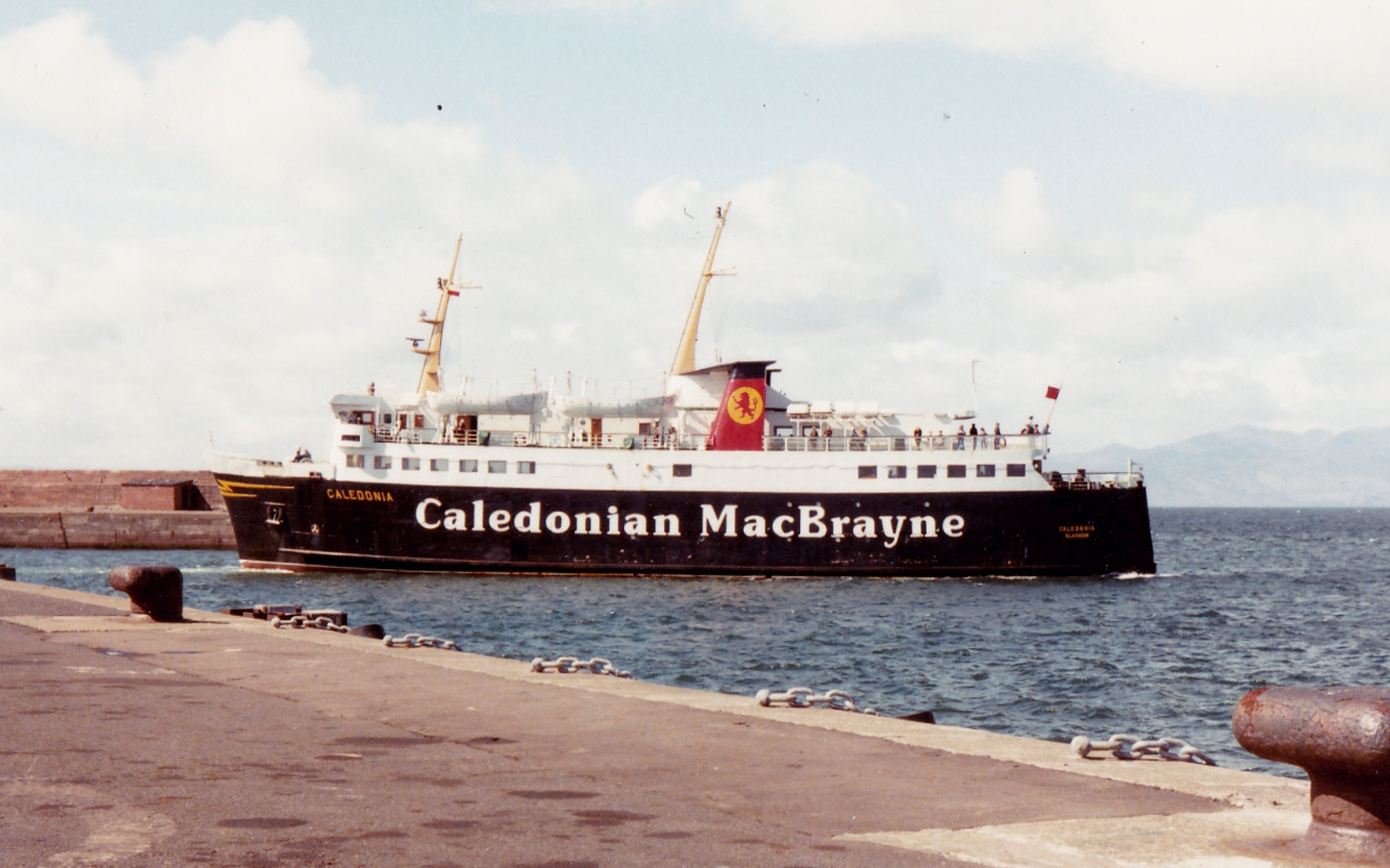 Caledonia in Ardrossan Harbour (Jim Aikman Smith)