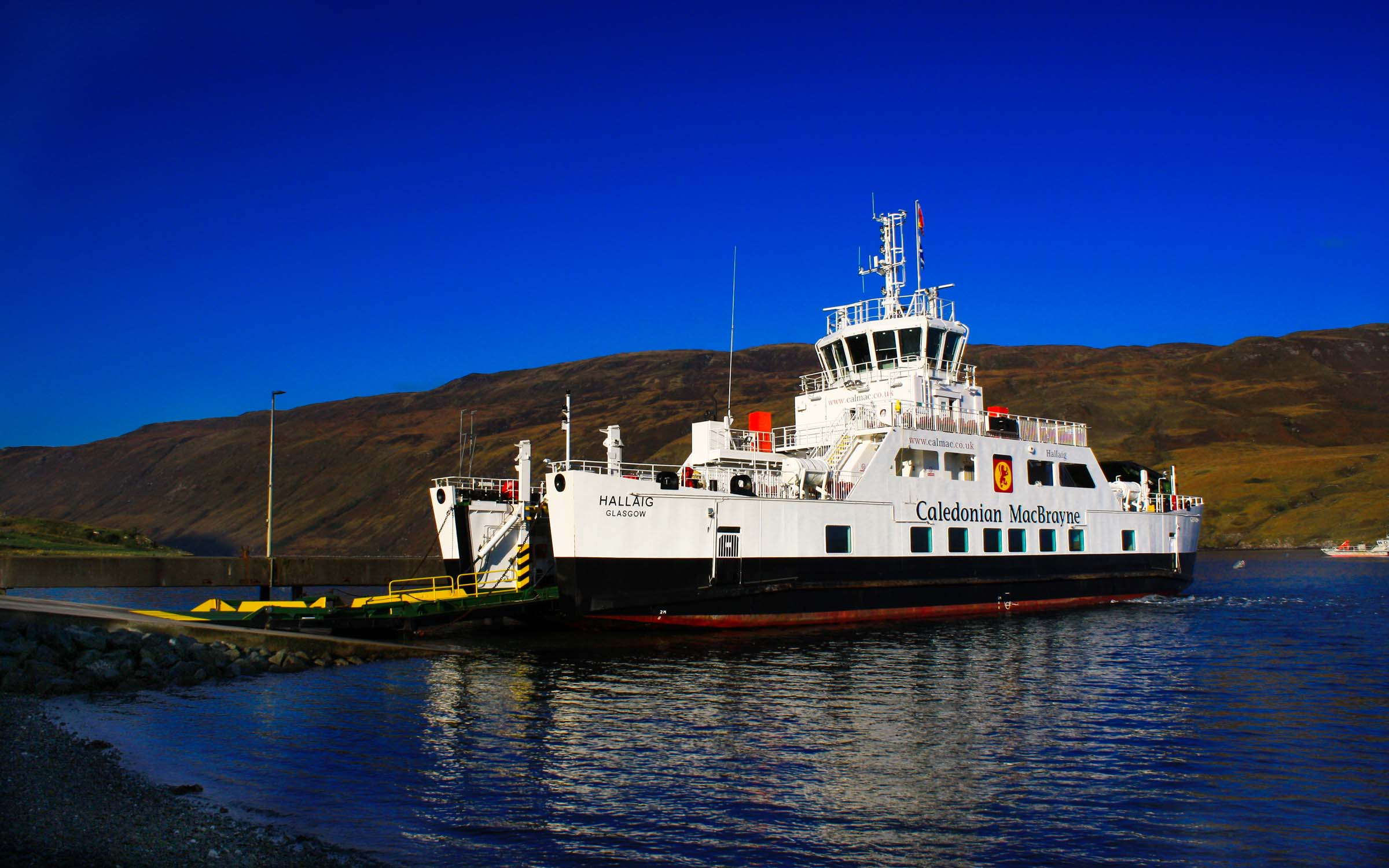 Hallaig lying at Sconser (Ships of CalMac)