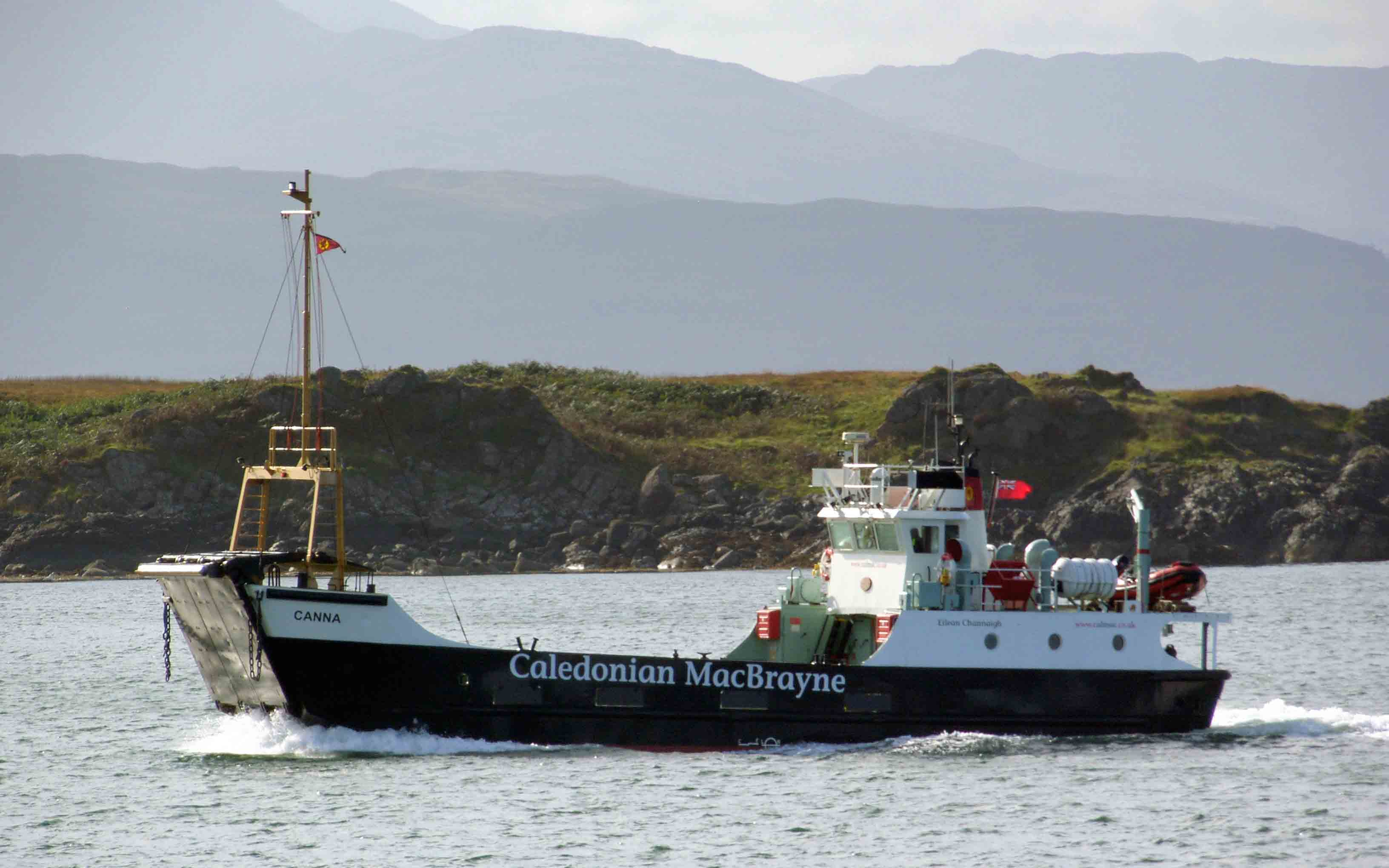 Canna entering Oban Bay (Ships of CalMac)