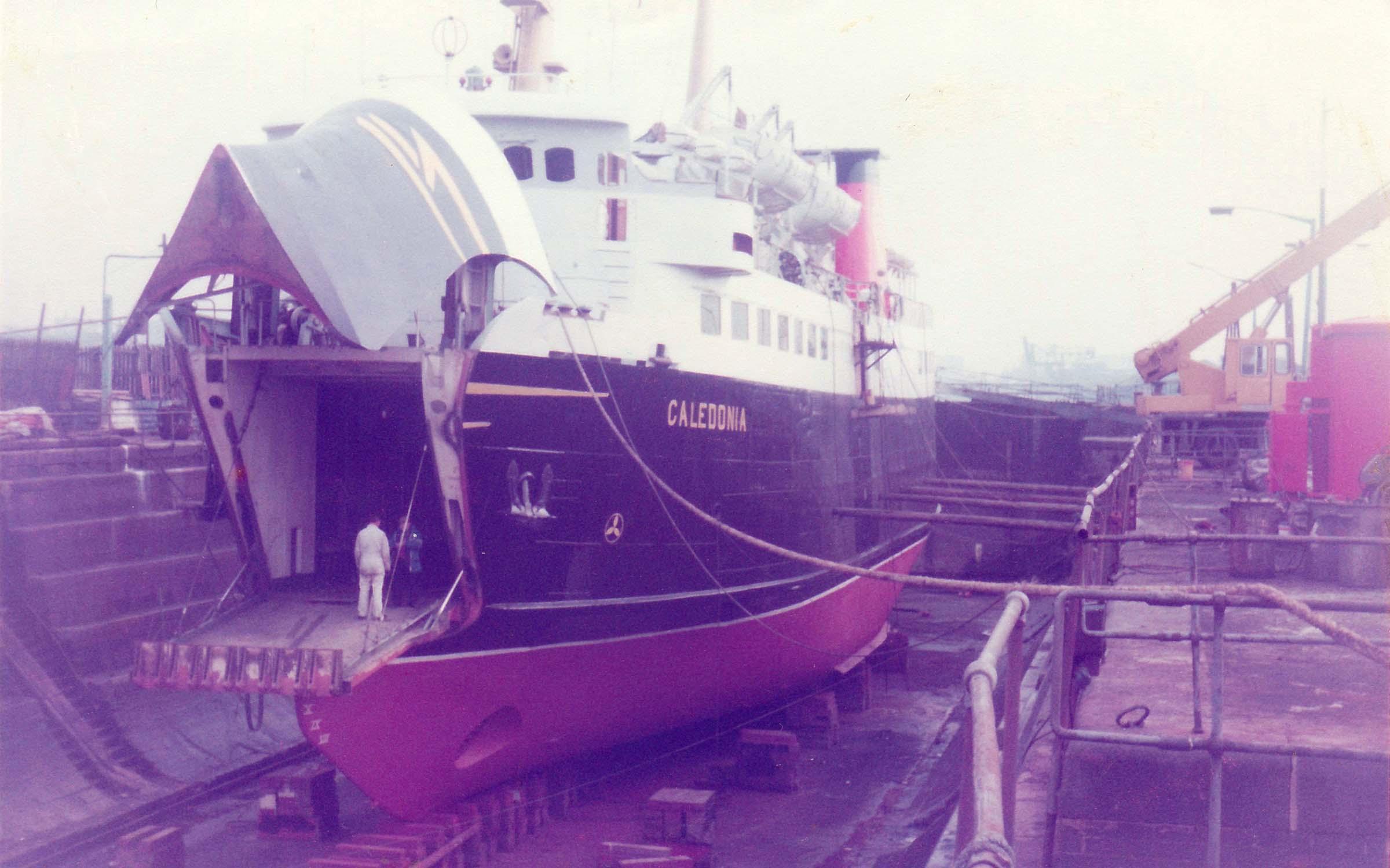 Caledonia in dry-dock (Ships of CalMac)