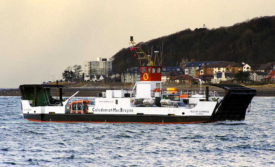 Isle of Cumbrae arriving at Largs (Ships of CalMac)