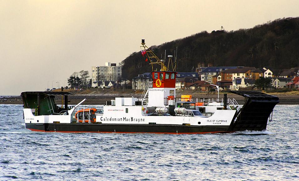 Isle of Cumbrae arriving at Largs (Ships of CalMac)