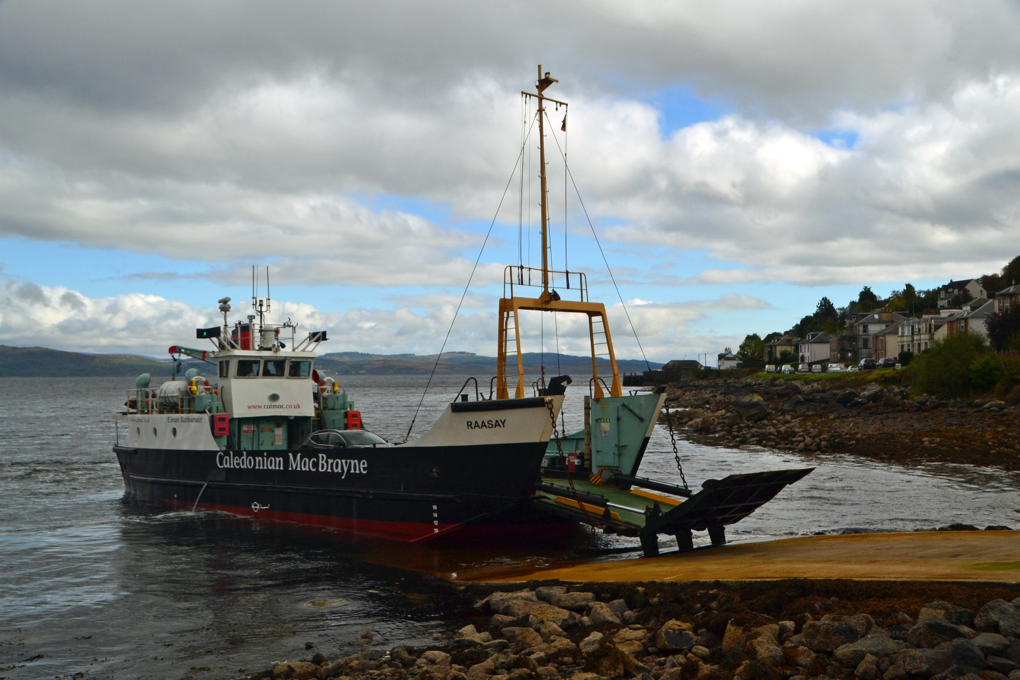 Raasay on emergency relief service at Tarbert (Ships of CalMac)