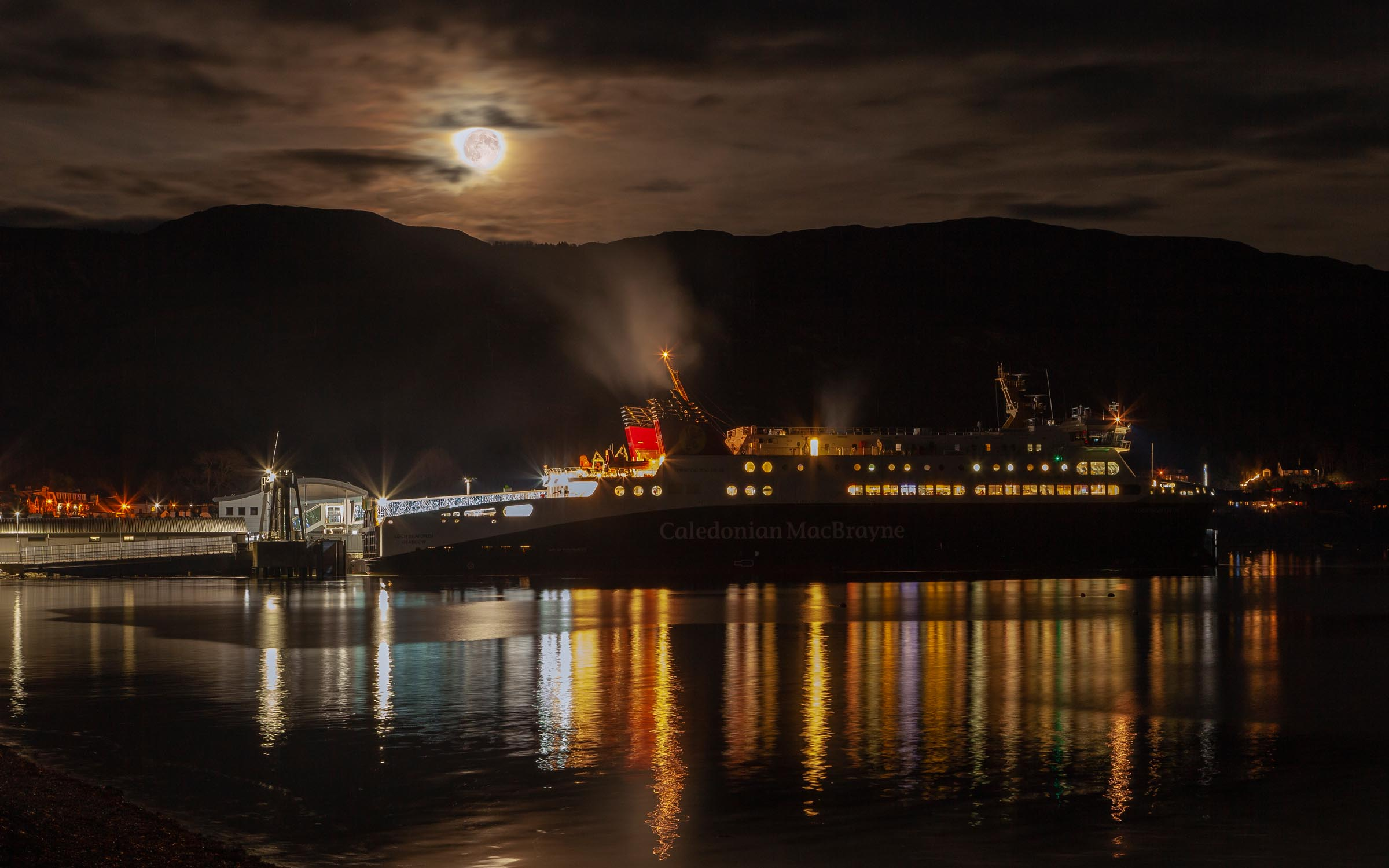 Loch Seaforth alongside at Ullapool (Ships of CalMac)