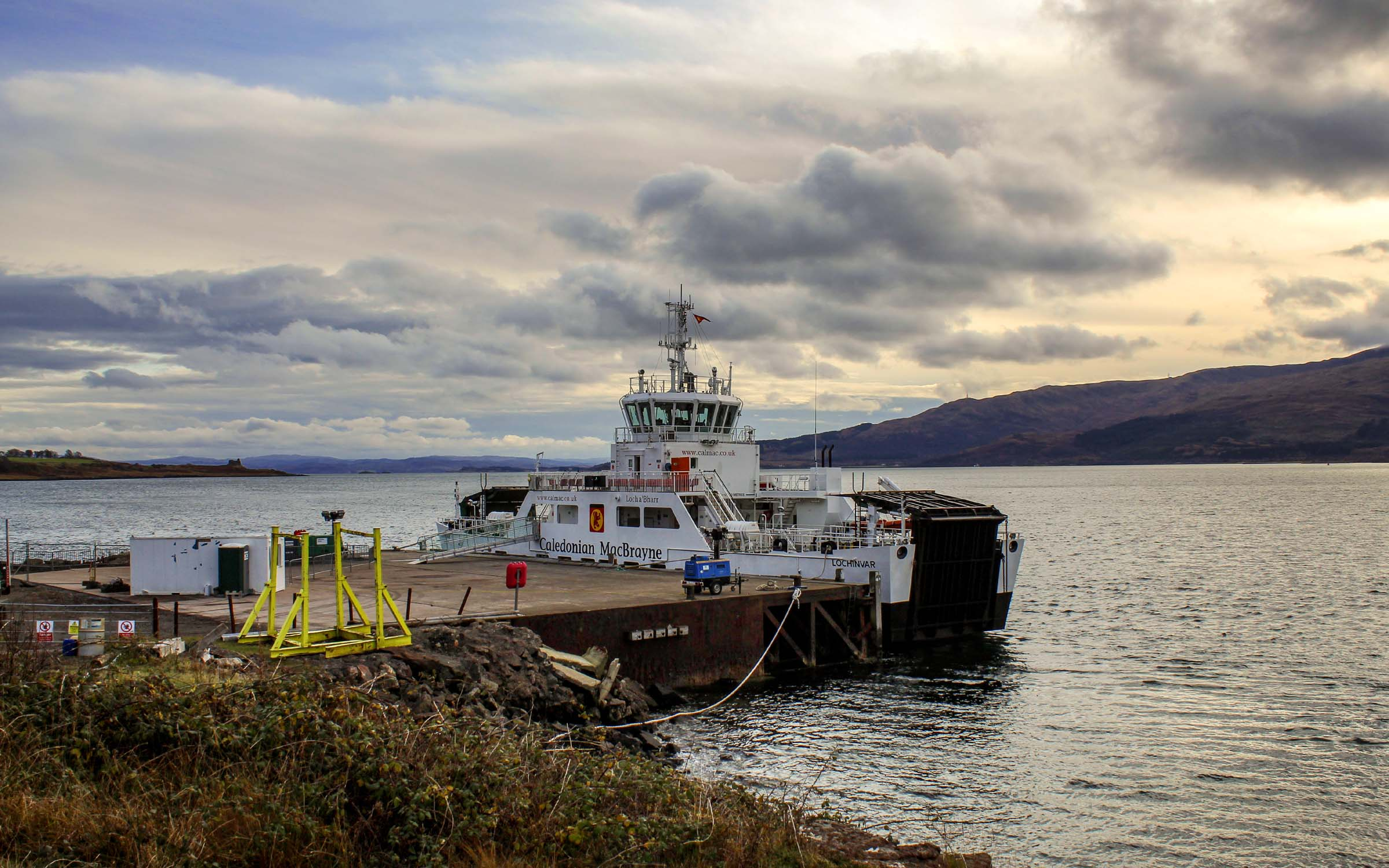 Lochinvar at Lochaline steamer pier (Ships of CalMac)