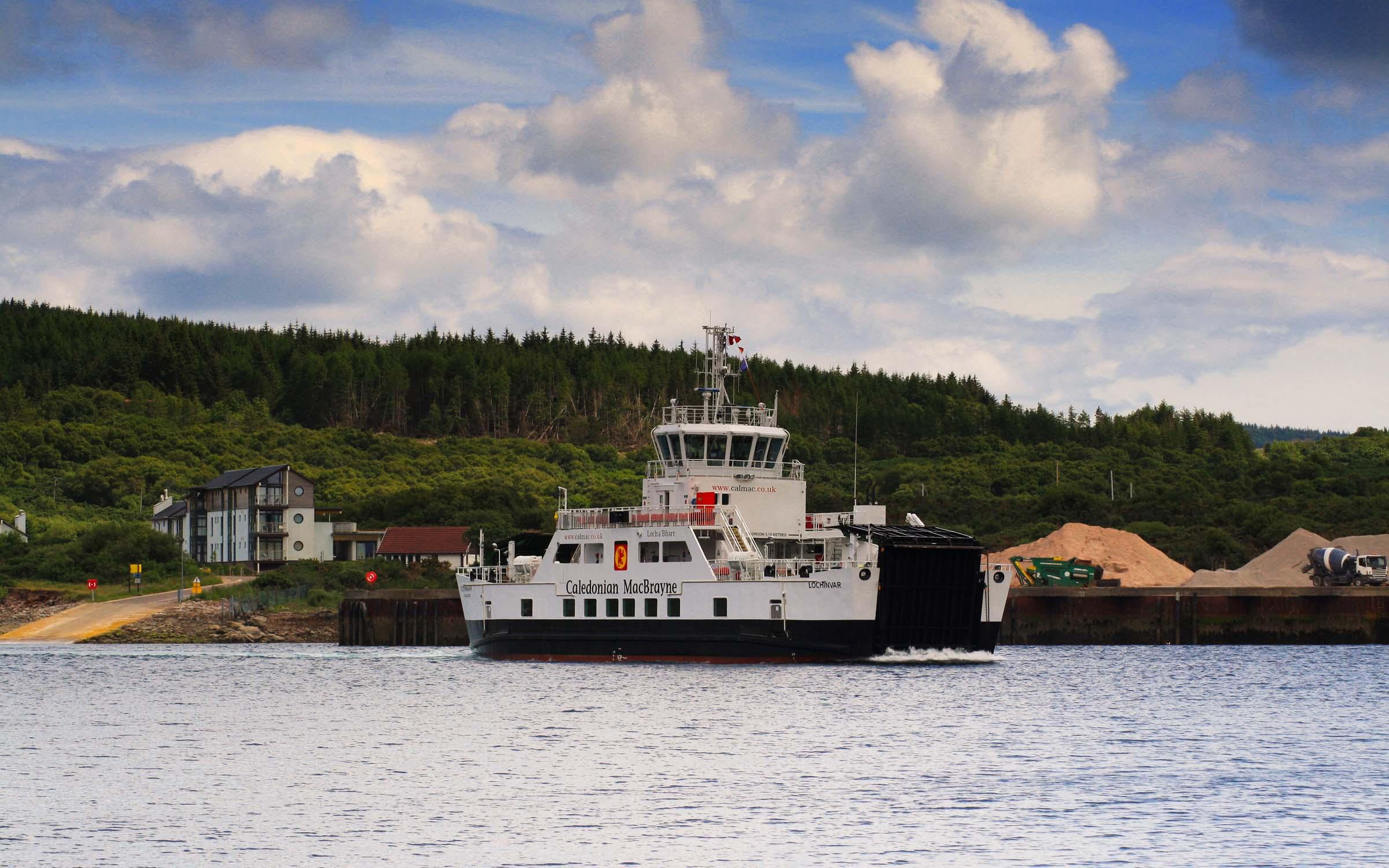 Lochinvar approaching Portavadie (Ships of CalMac)