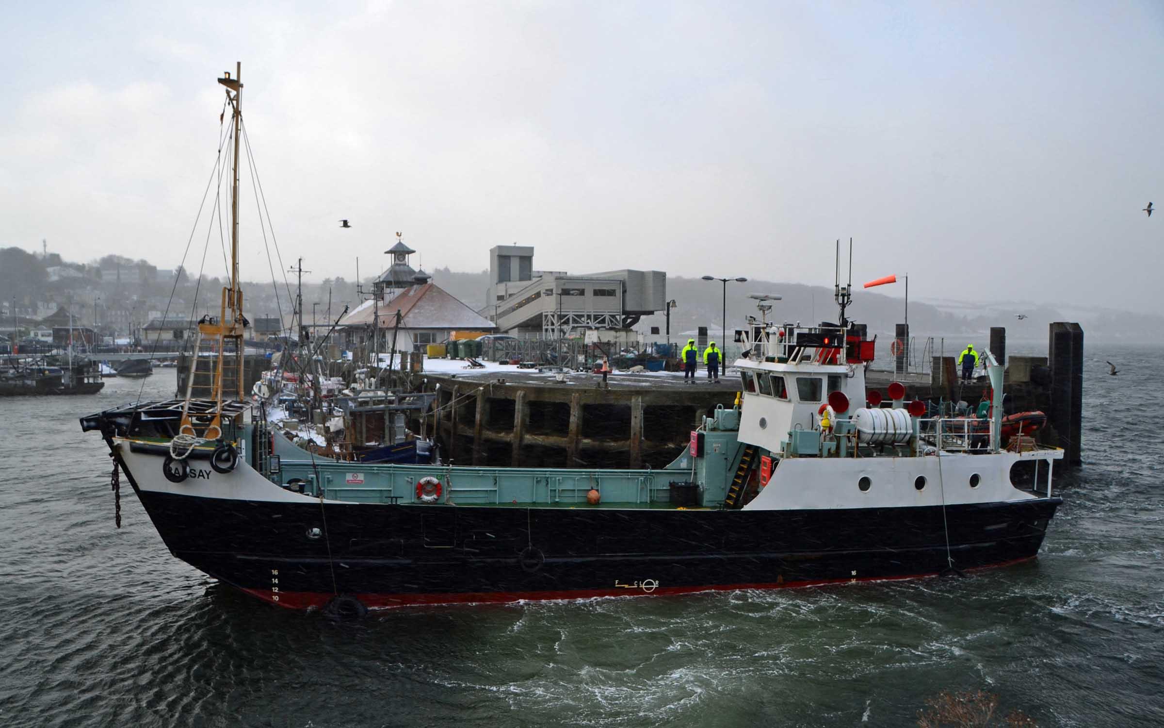 Raasay visiting Rothesay after being sold (Ships of CalMac)