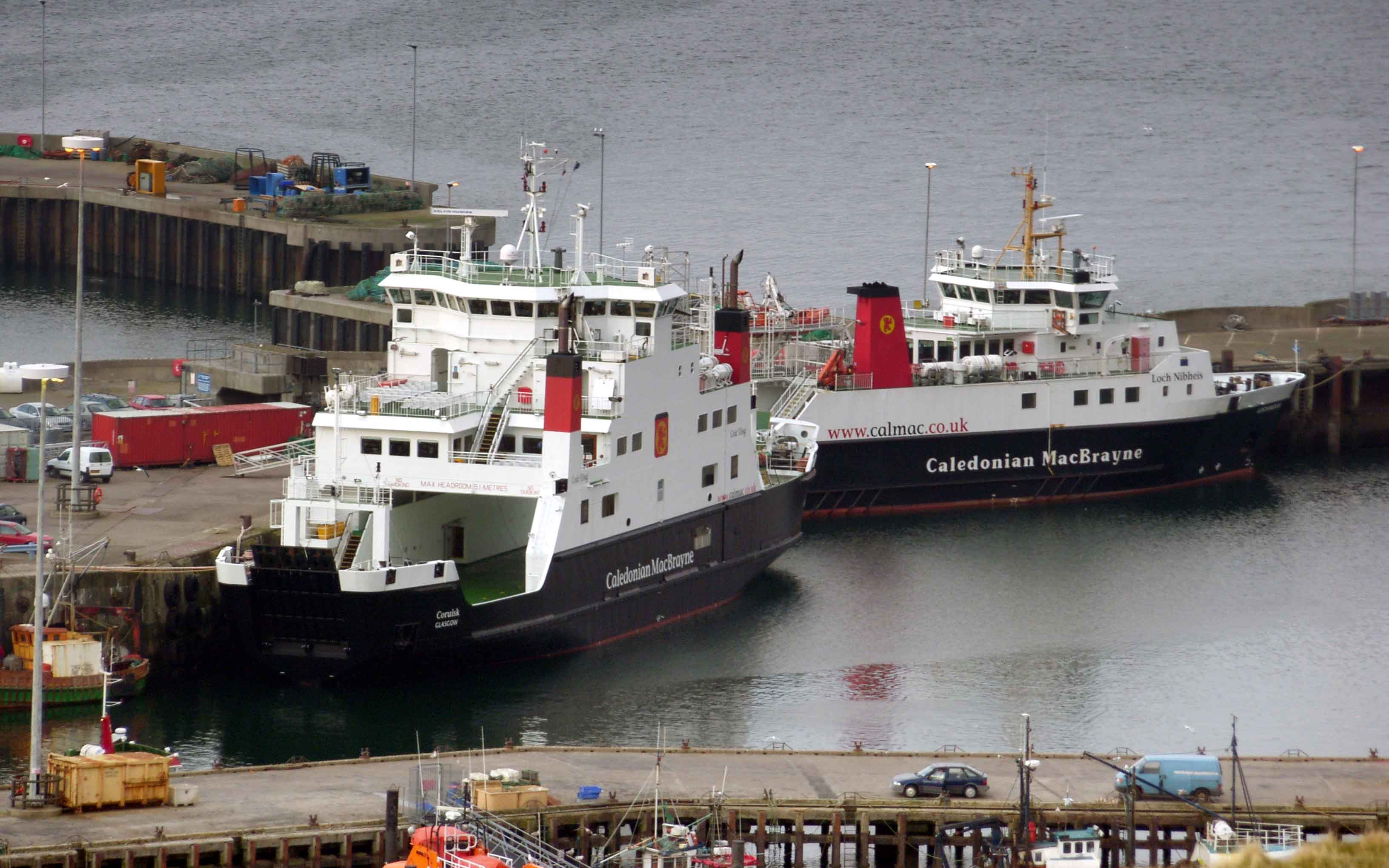 Coruisk with Lochnevis at Mallaig (Ships of CalMac)