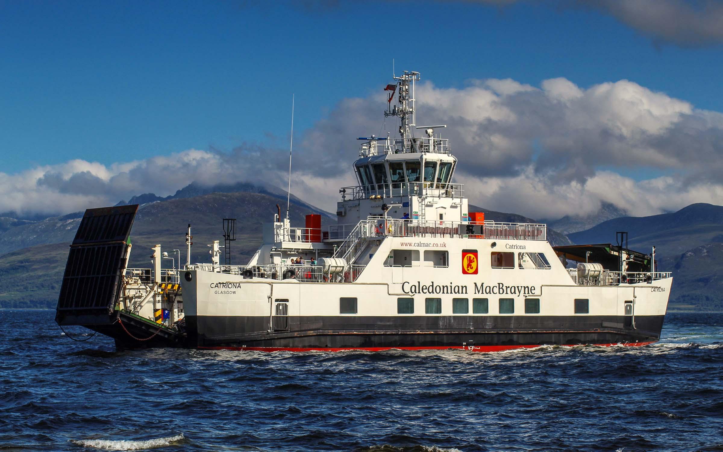 Catriona arriving at Claonaig (Ships of CalMac)