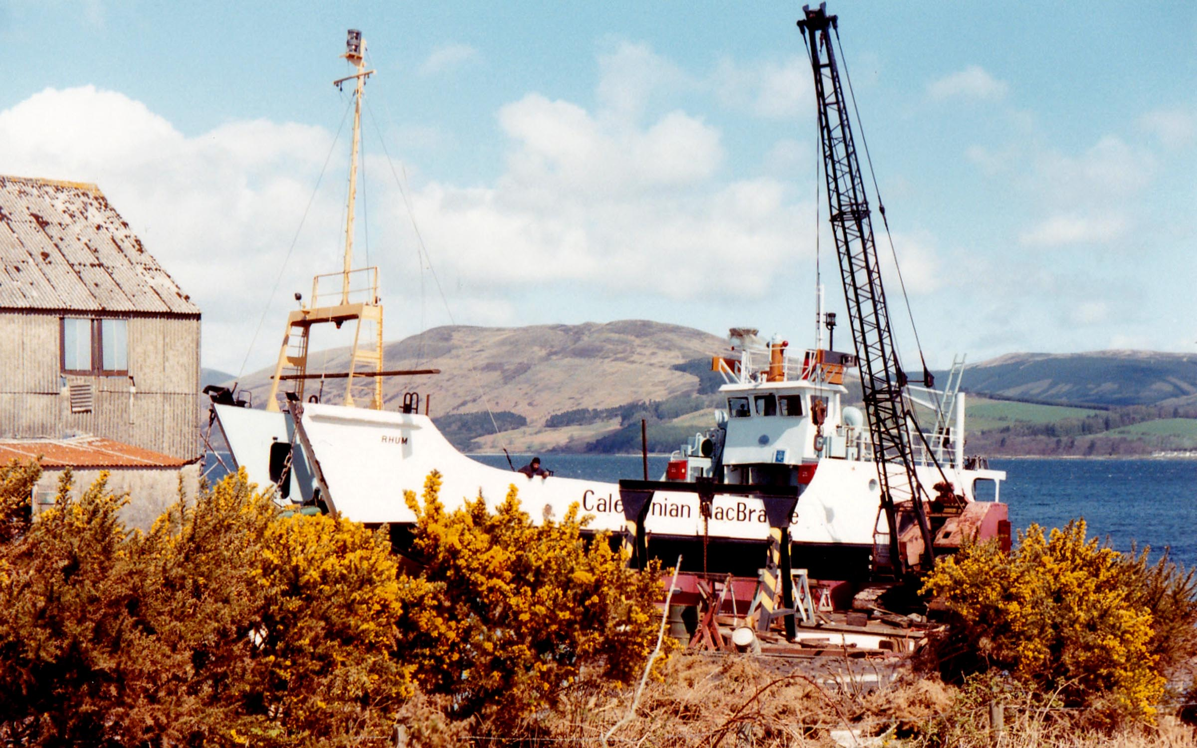 Rhum on the slip at Ardmaleish (Jim Aikman Smith)