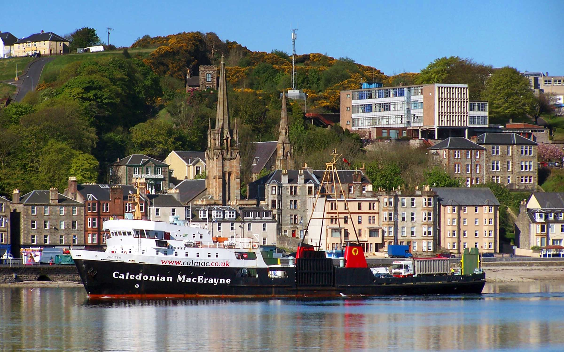 Jupiter arriving at Rothesay (Ships of CalMac)