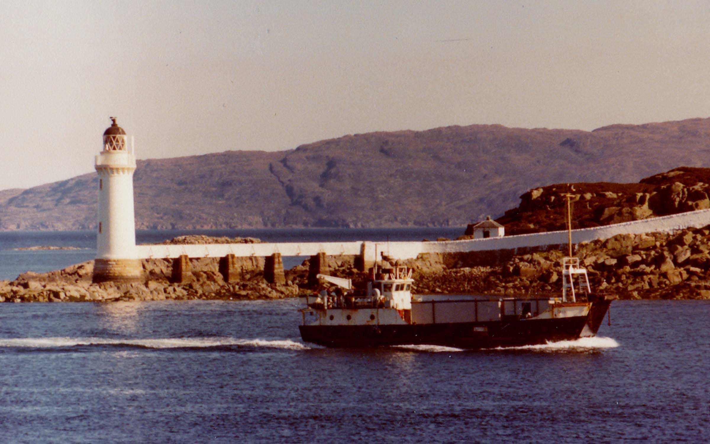 Coll passing Eilean Ban on her charter service to Loch Kishorn (Jim Aikman Smith)