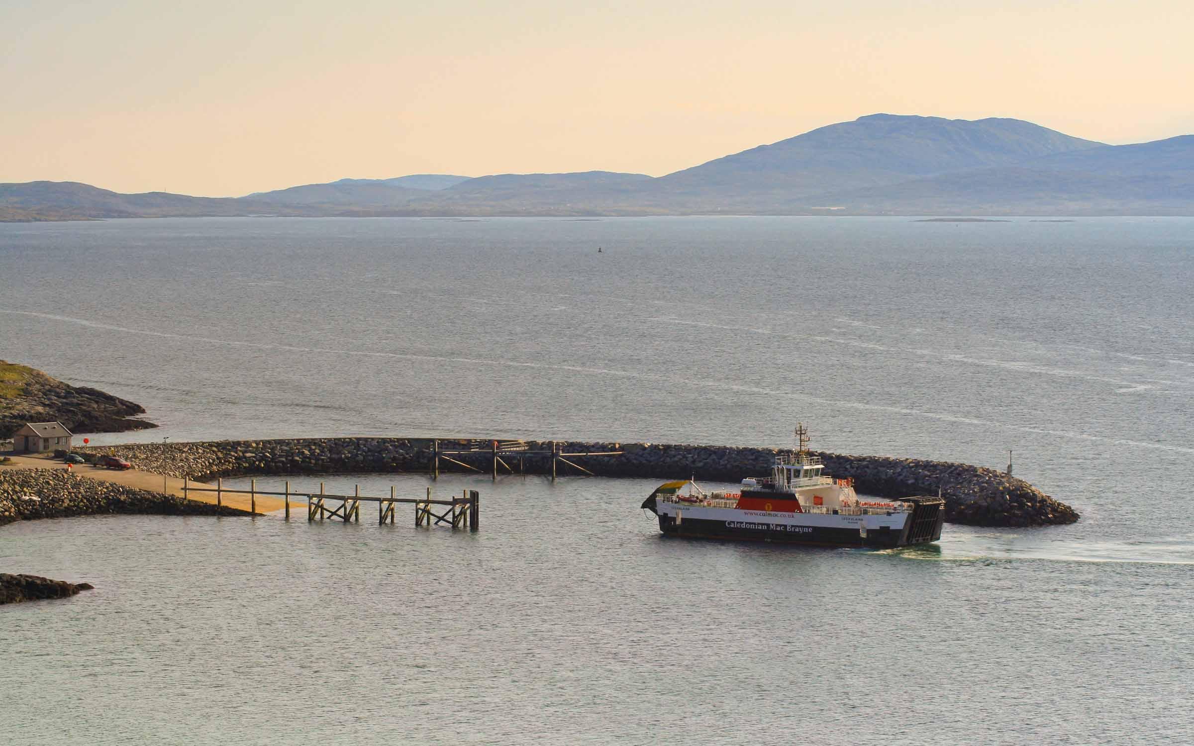 Loch Alainn arriving at Eriskay (Ships of CalMac)