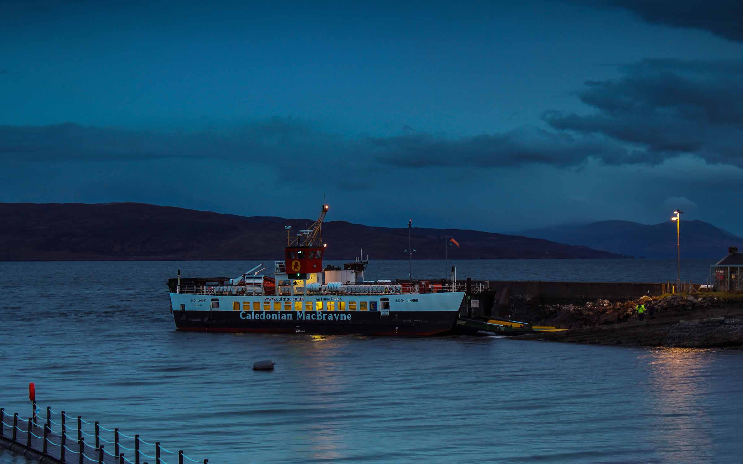 Loch Linnhe at Kilchoan (Ships of CalMac)