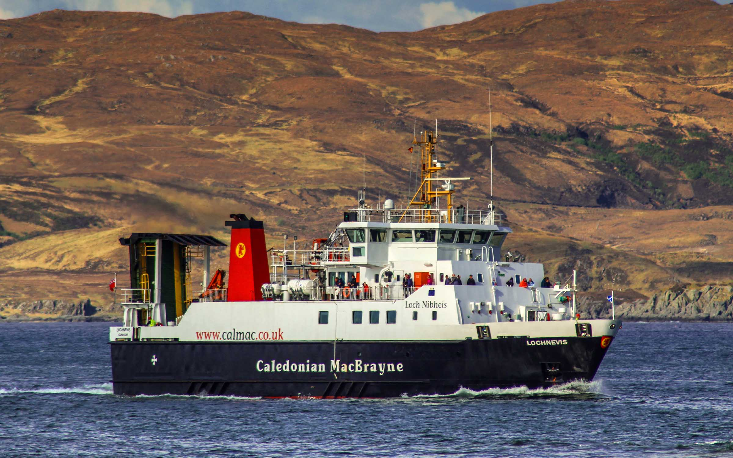 Lochnevis approaching Mallaig (Ships of CalMac)