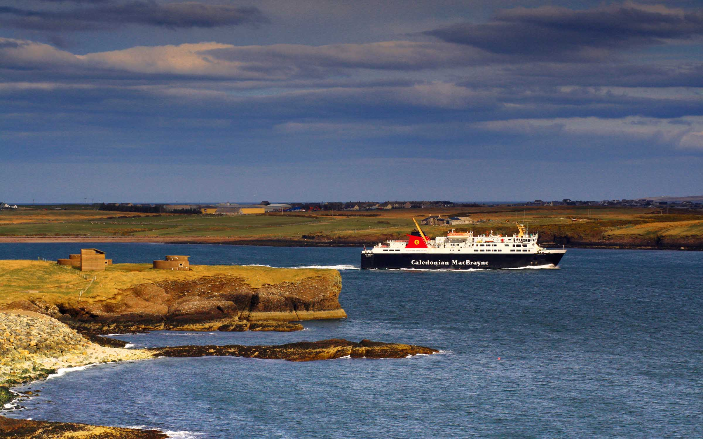 Isle of Lewis leaving Stornoway Harbour (Ships of CalMac)