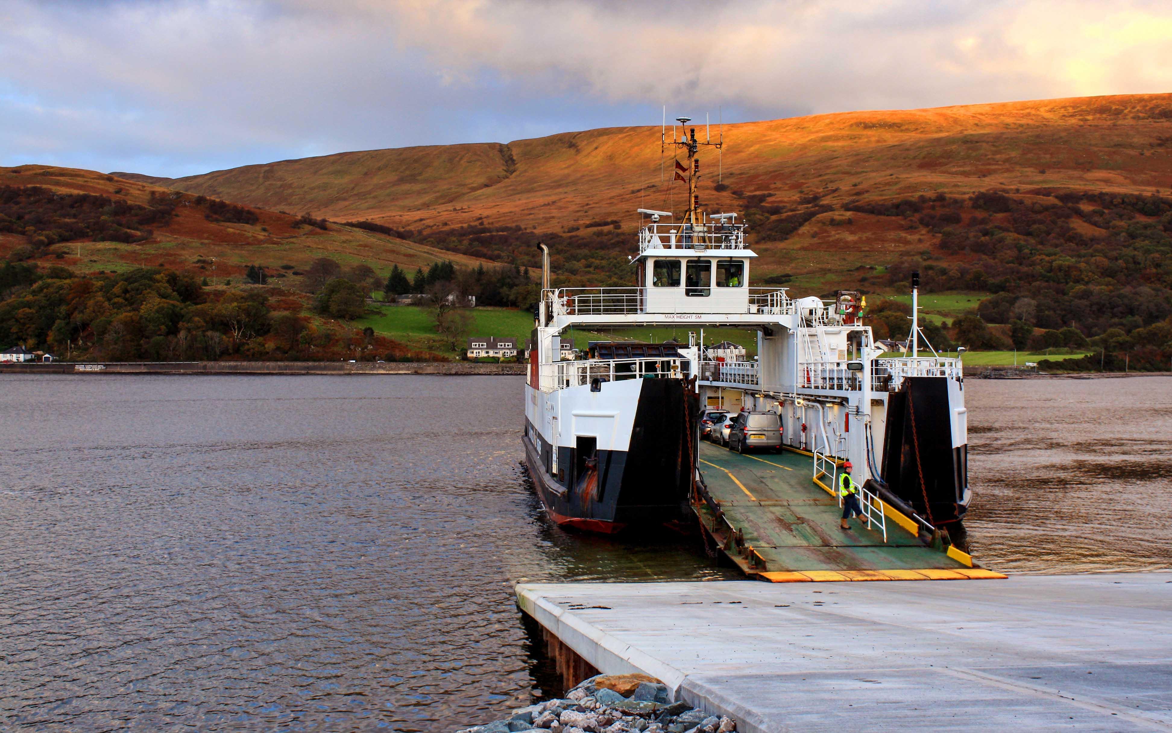 Loch Alainn at Rhubodach's new slipway (Ships of CalMac)