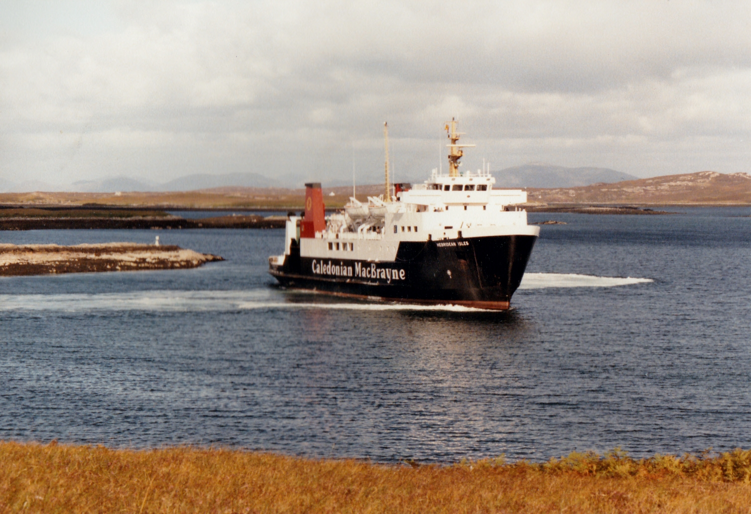 Hebridean Isles leaving Lochmaddy (Jim Aikman Smith)
