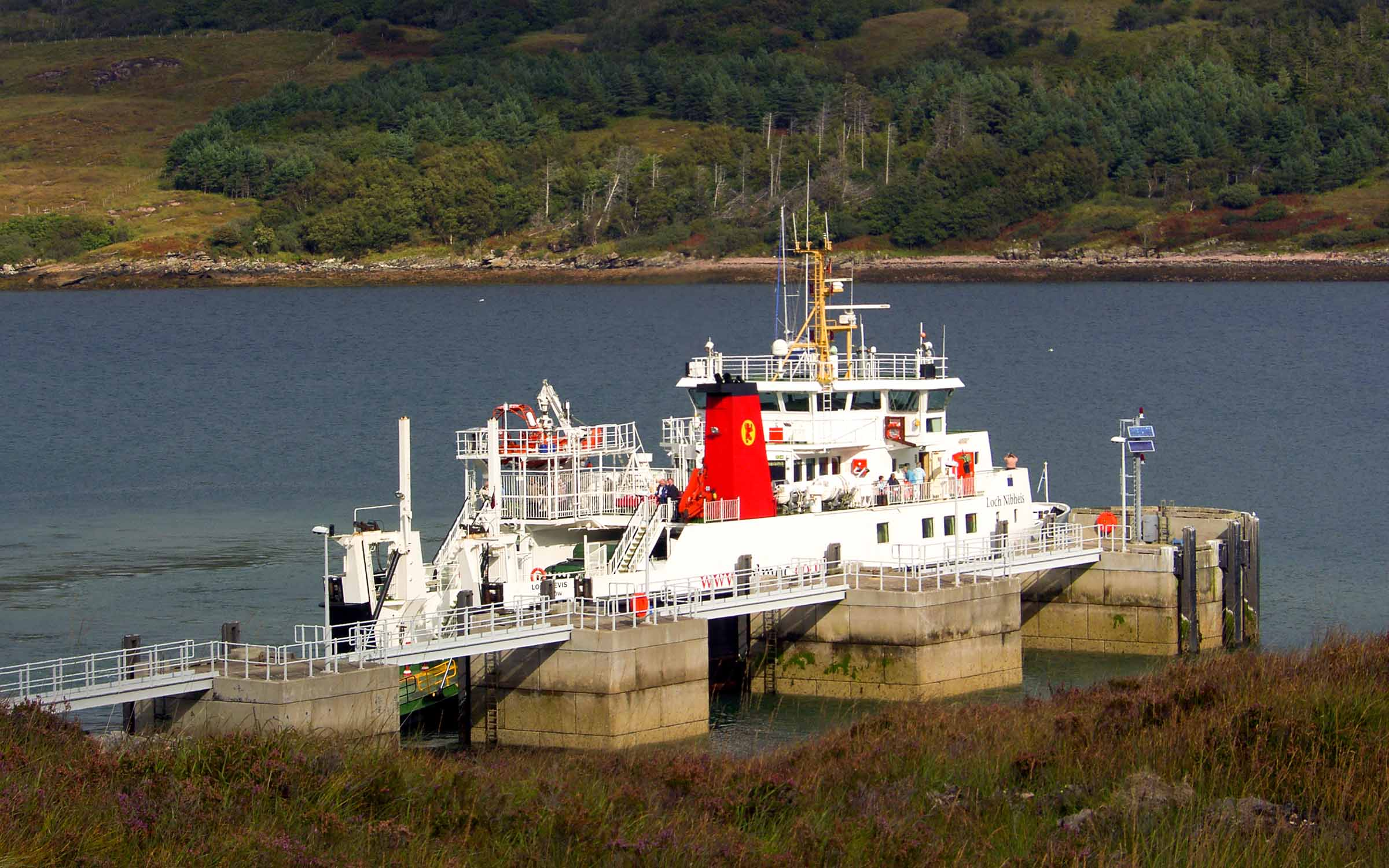 Lochnevis loading on Rum (Ships of CalMac)