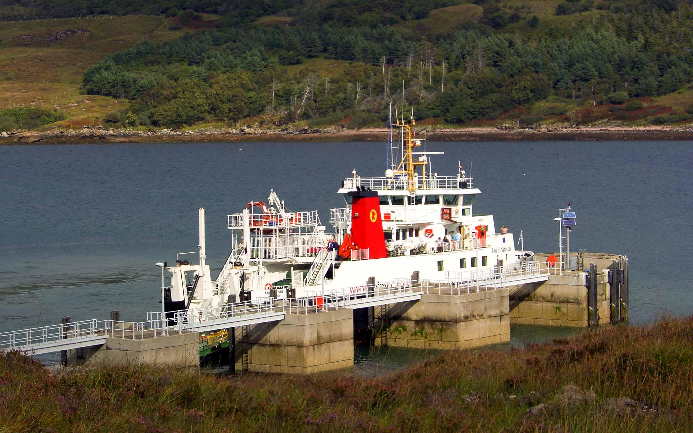 Lochnevis loading on Rum (Ships of CalMac)