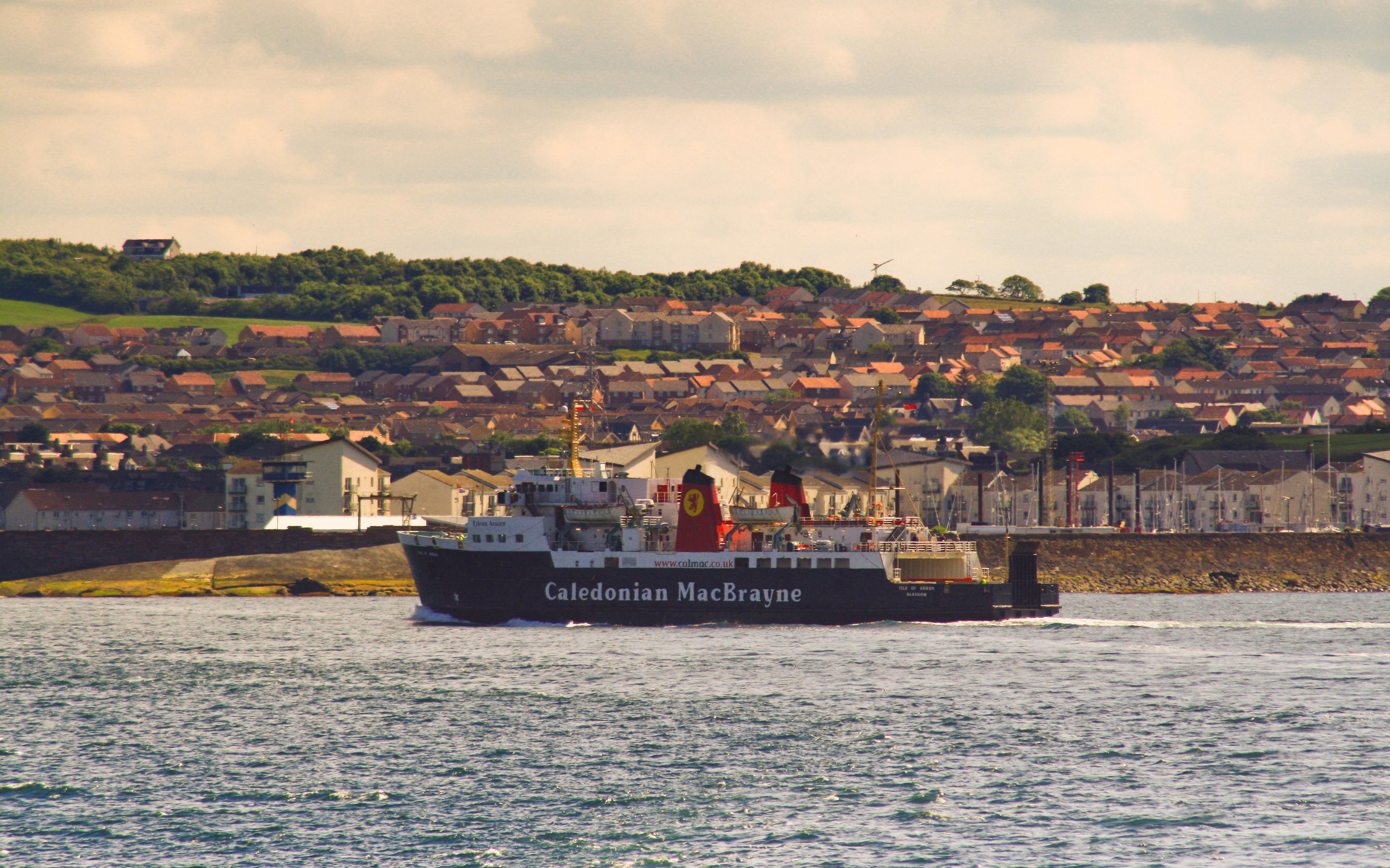 Isle of Arran approaching Ardrossan (Ships of CalMac)