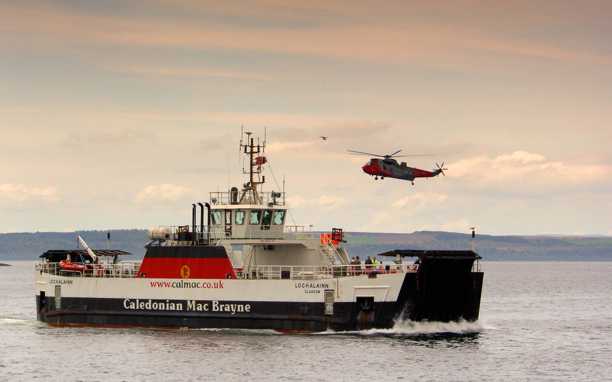 Loch Alainn approaching Largs (Ships of CalMac)