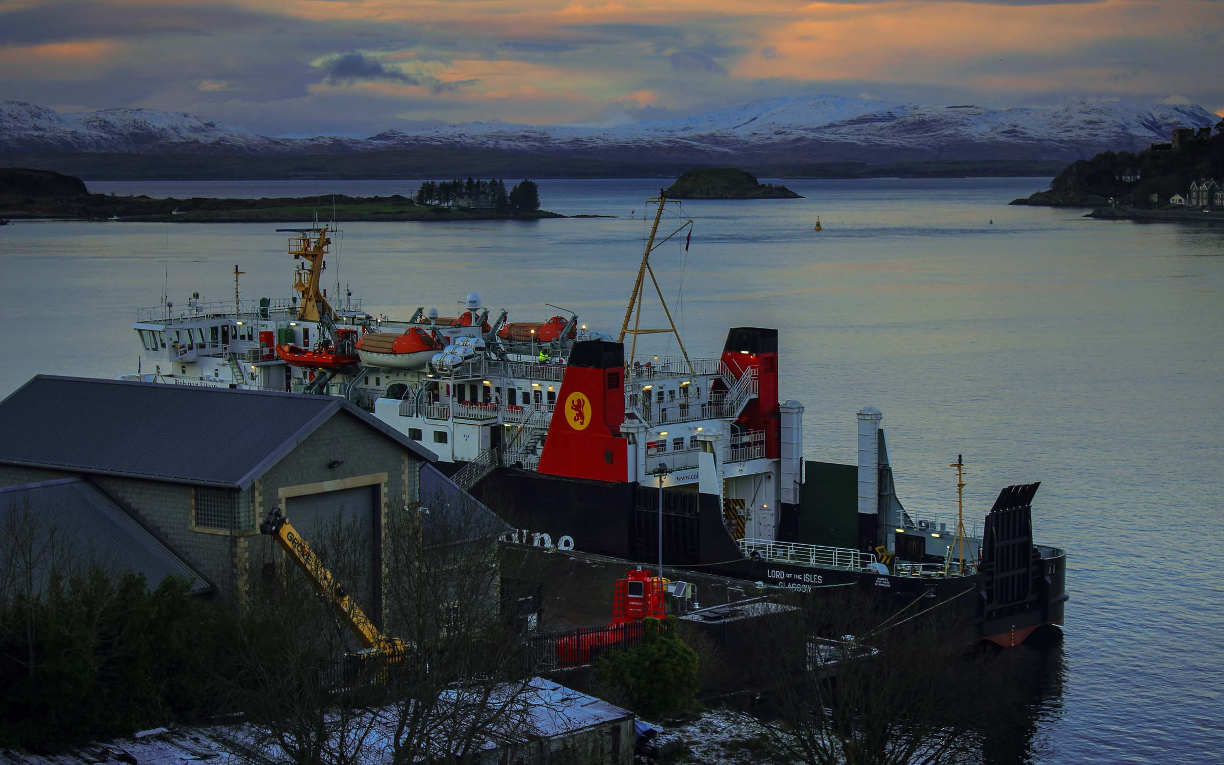 Lord of the Isles at Oban's South Pier (Ships of CalMac)