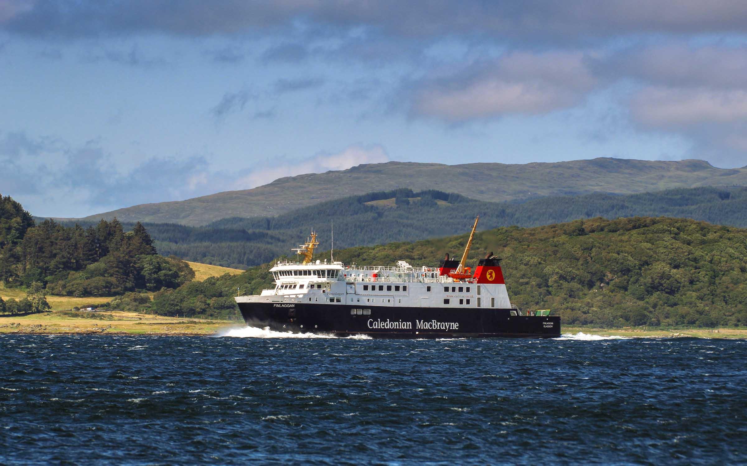 Finlaggan in West Loch Tarbert (Ships of CalMac)